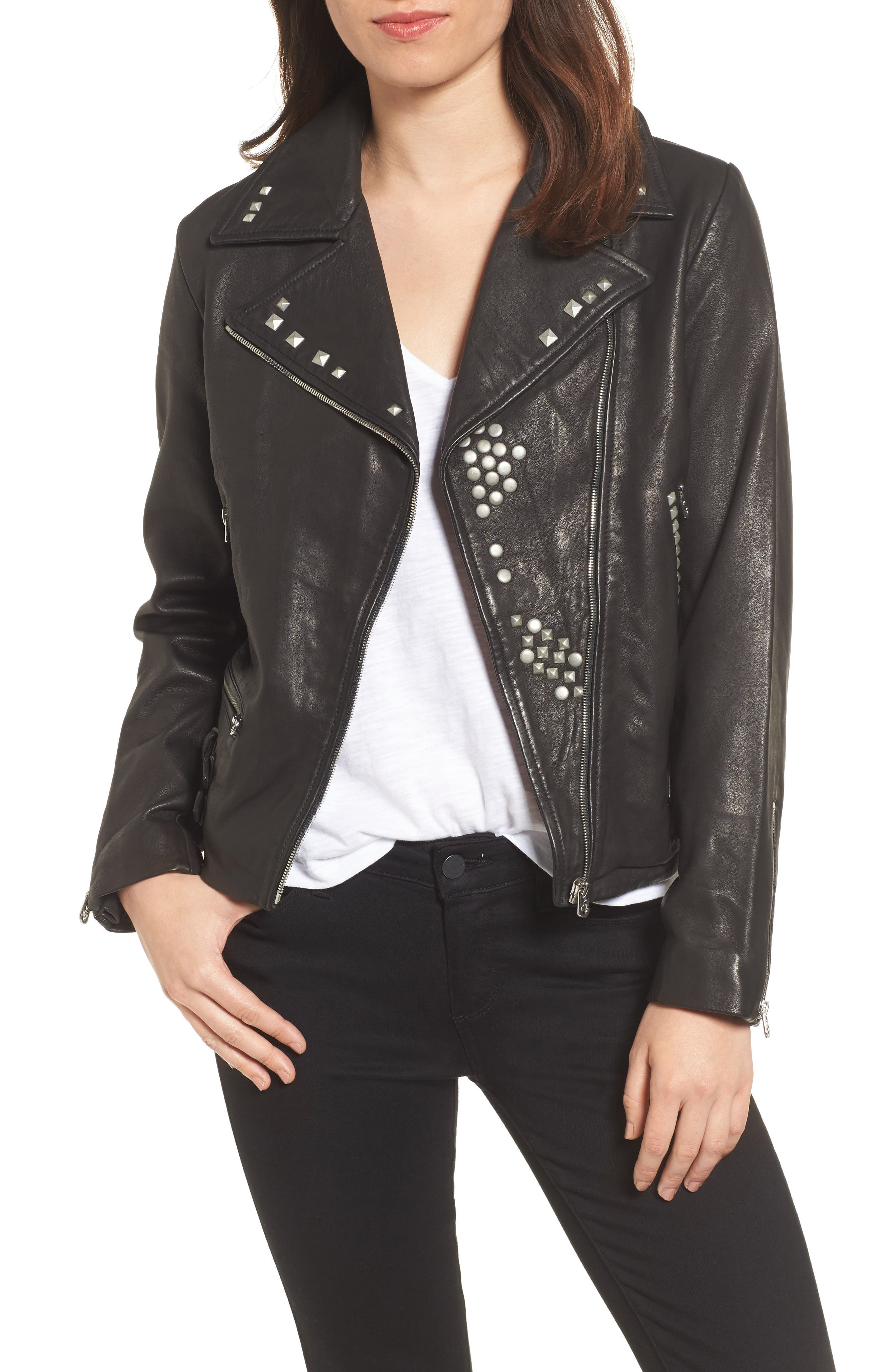 Main Image - True Religion Brand Jeans Studded Leather Jacket