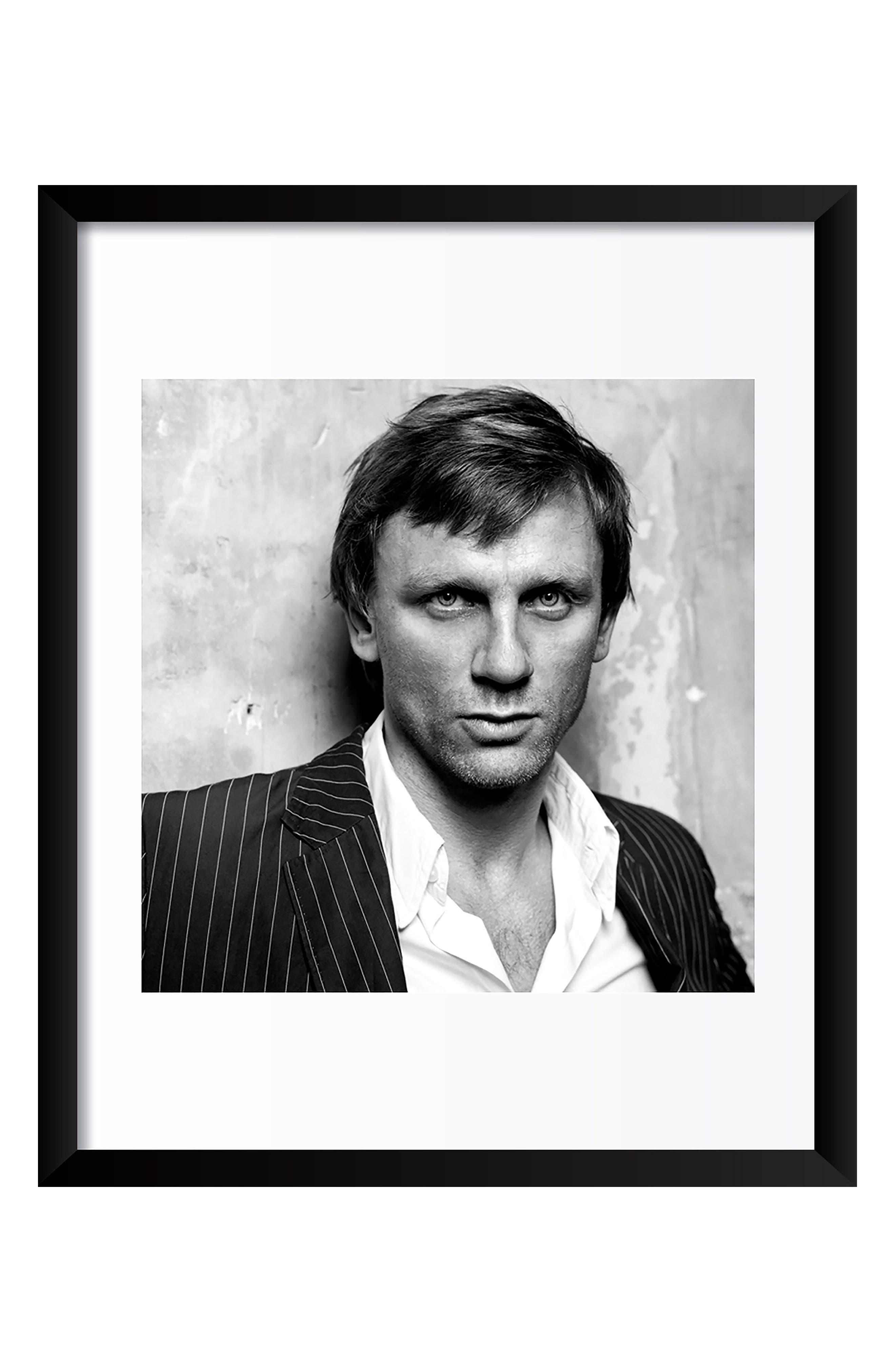 Daniel Craig Fine Art Print,                         Main,                         color, Black