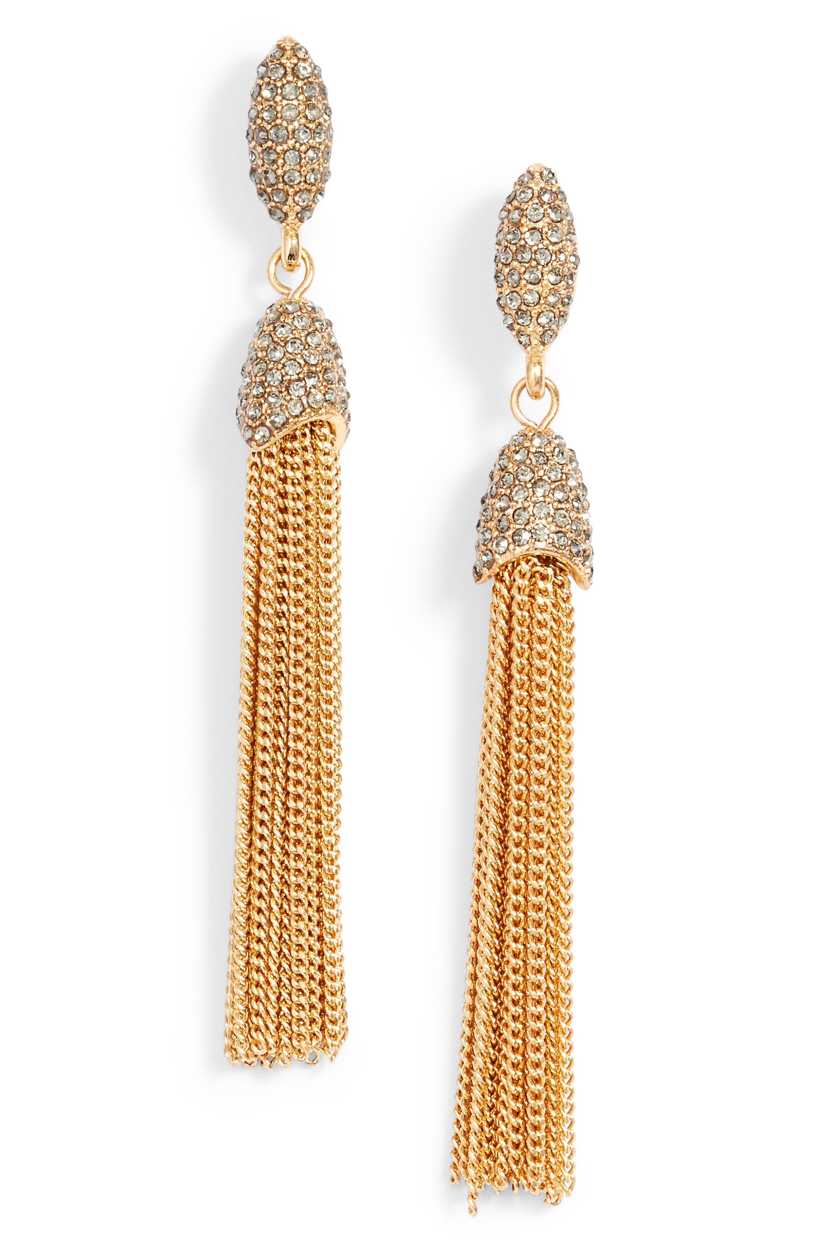 Vince Camuto Chain Tassel Drop Earrings