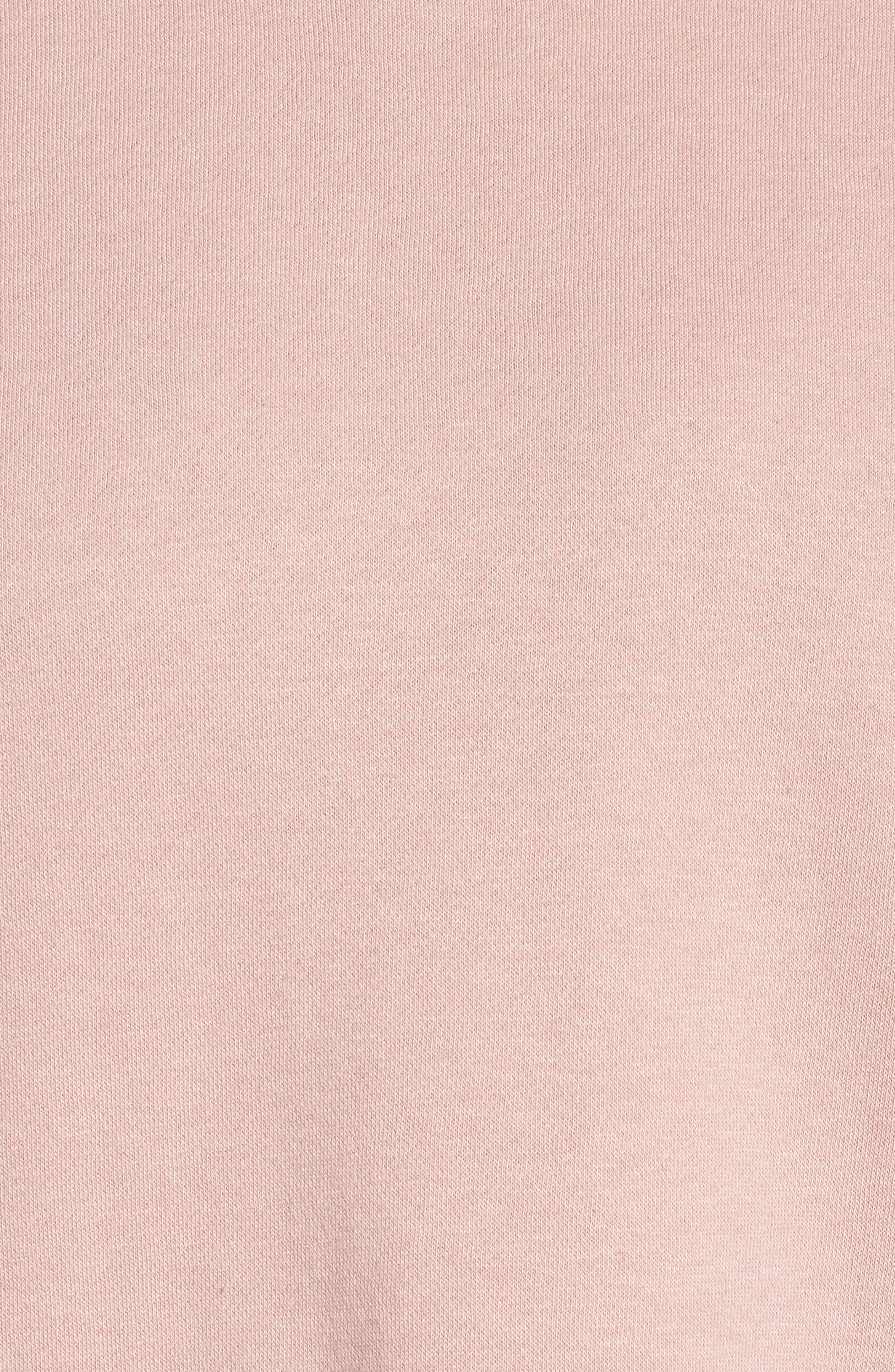Cutout Sweatshirt,                             Alternate thumbnail 5, color,                             Rose Quartz