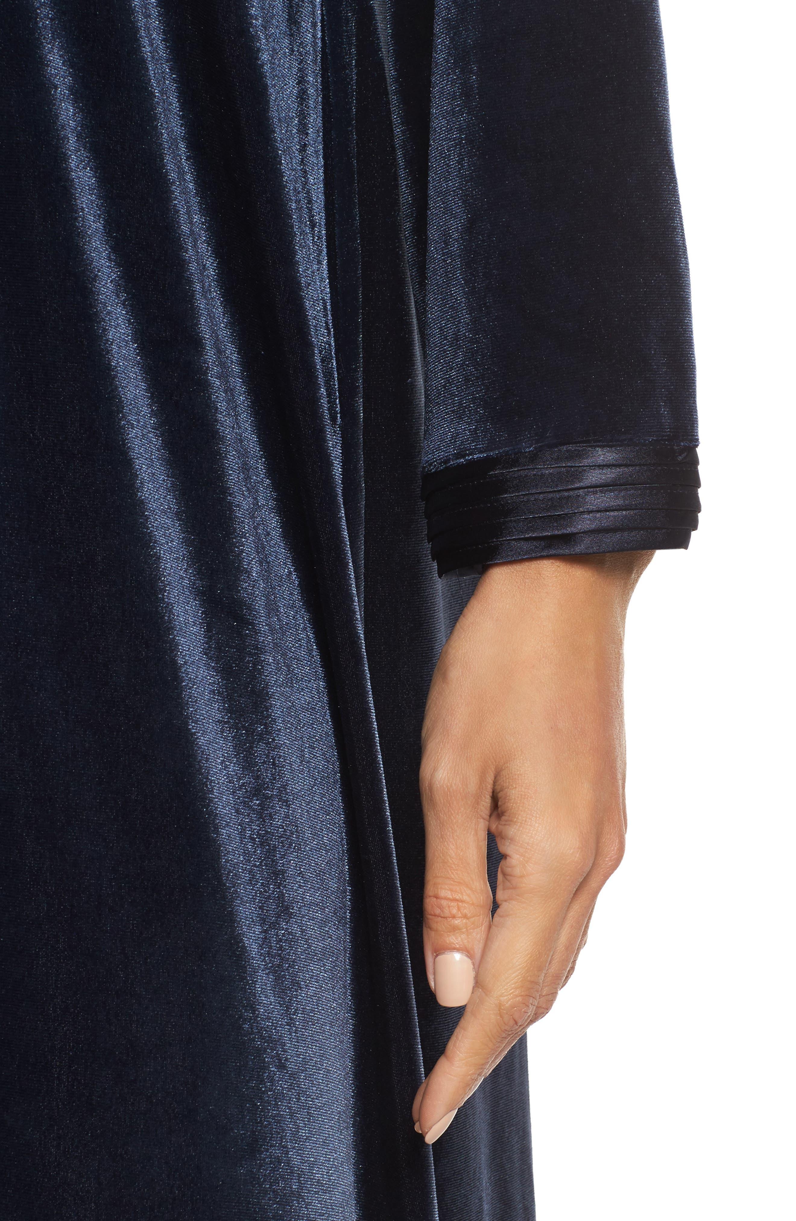 Sleepwear Velvet Caftan,                             Alternate thumbnail 5, color,                             Blue