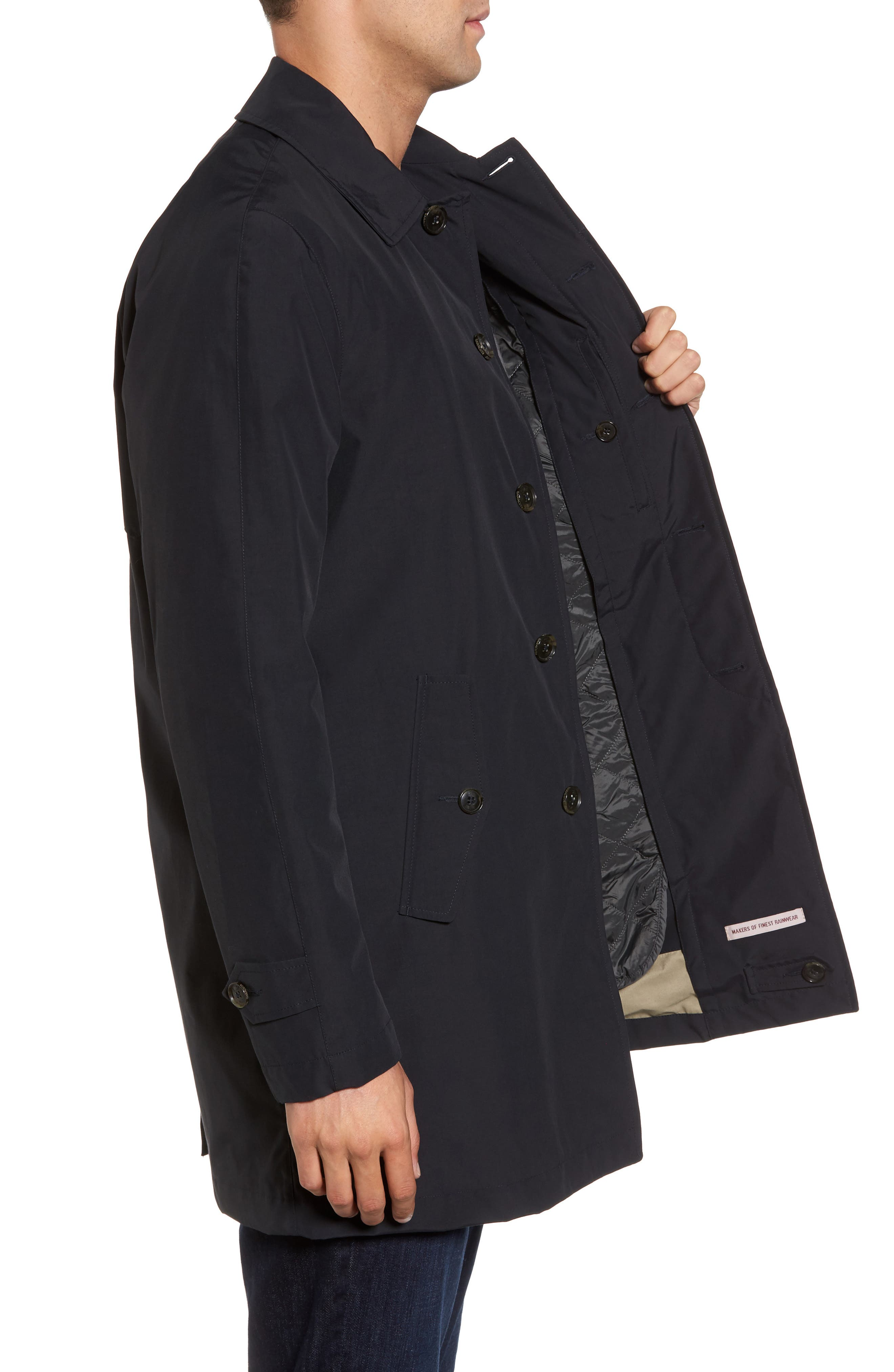 Waterproof Coat with Removable Liner,                             Alternate thumbnail 3, color,                             Dark Navy