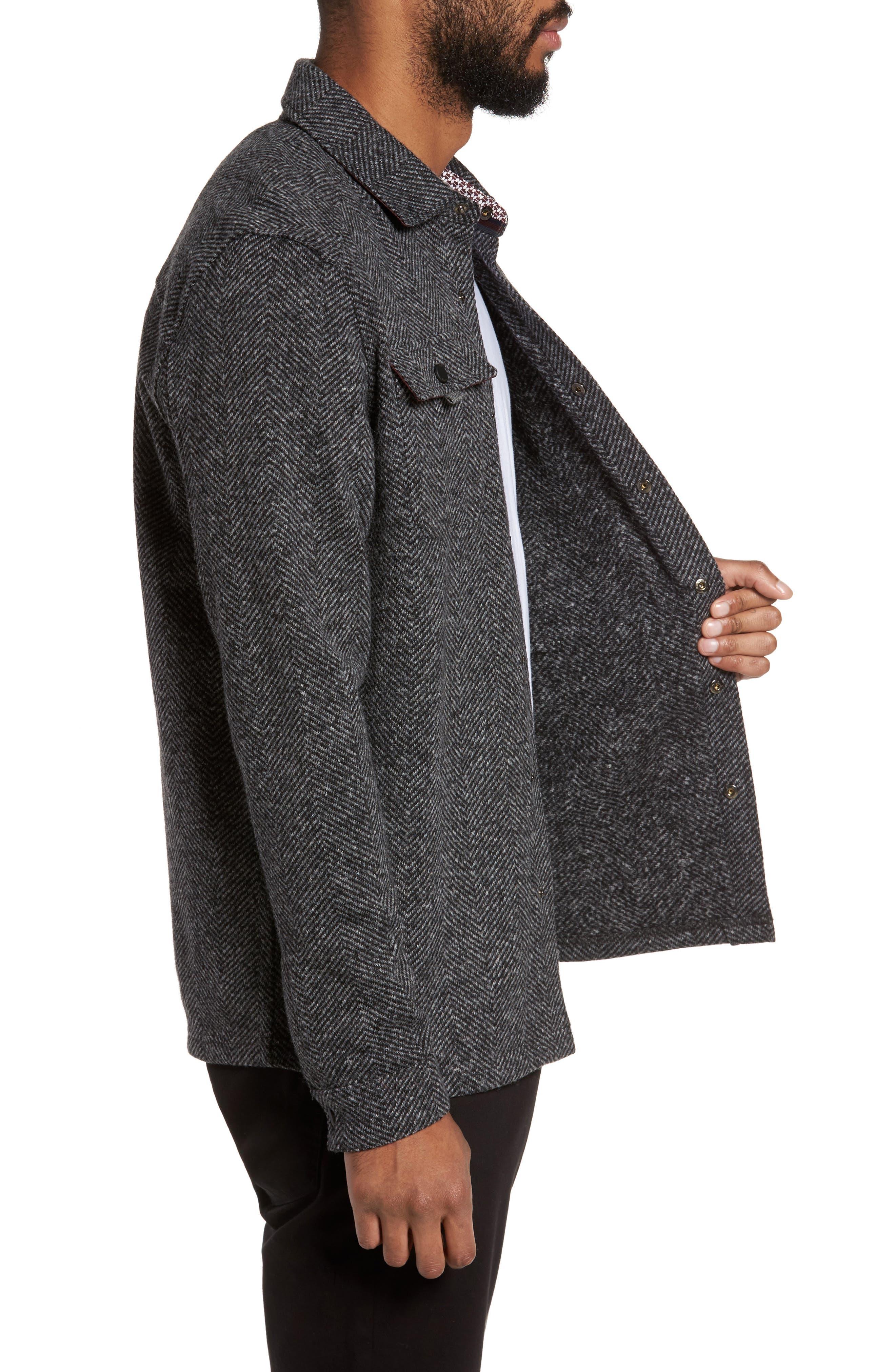 Alternate Image 3  - Ted Baker London Chelts Slim Fit Herringbone Overshirt