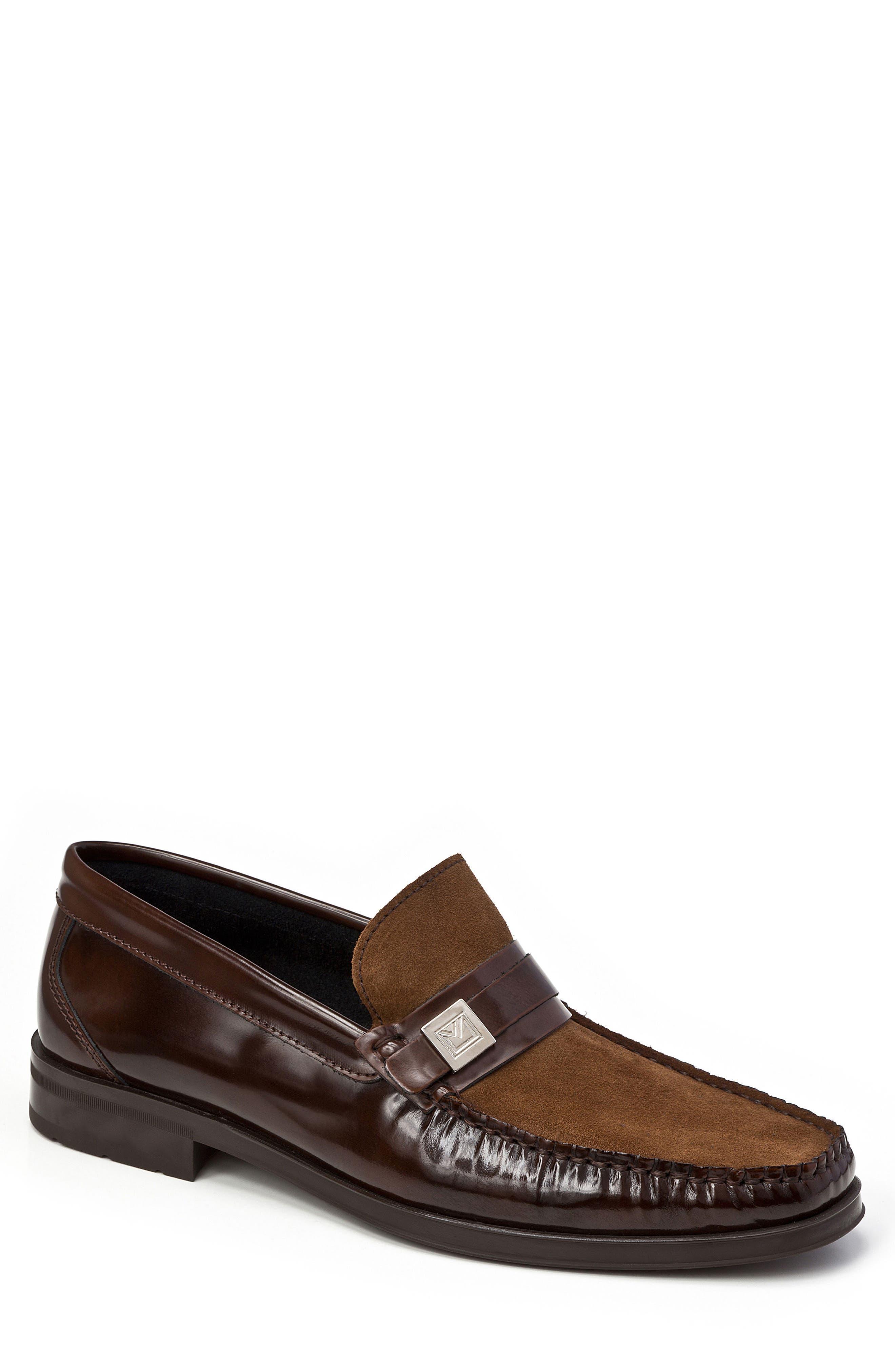 Avila Loafer,                         Main,                         color, Brown Leather