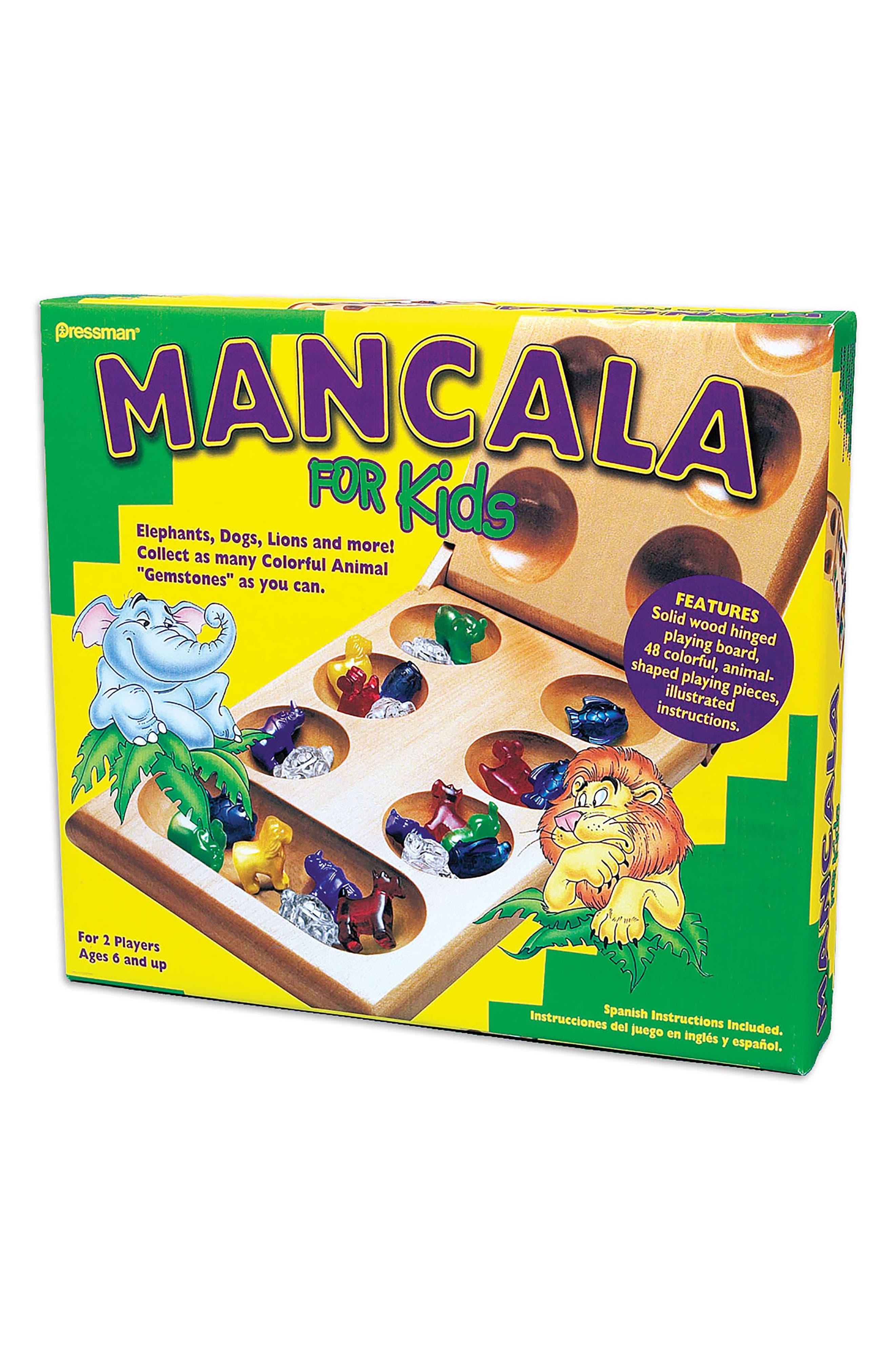49-Piece Mancala for Kids Game,                         Main,                         color, Blue