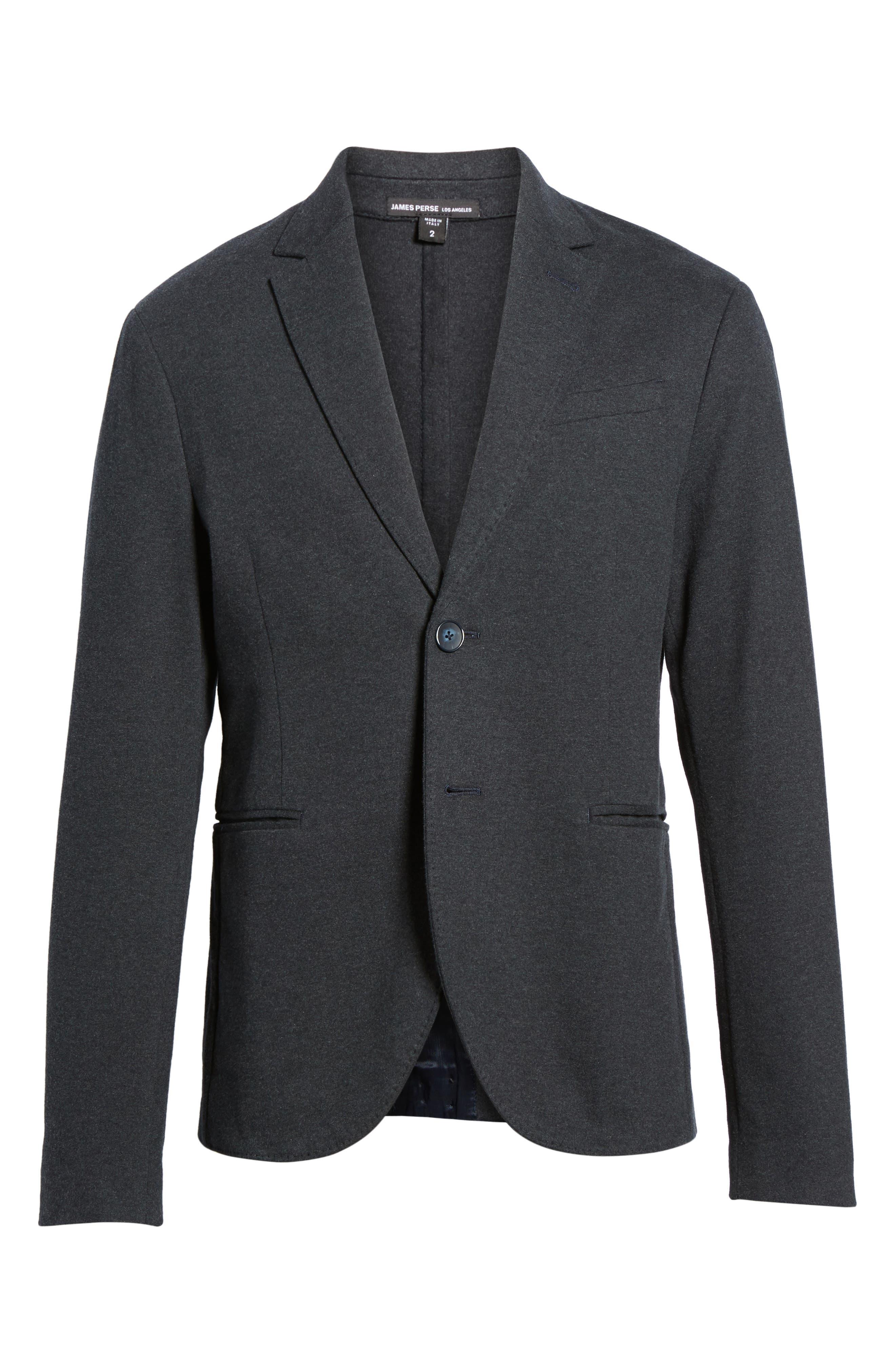 Tailored Jersey Jacket,                             Alternate thumbnail 6, color,                             Heather Dark Navy