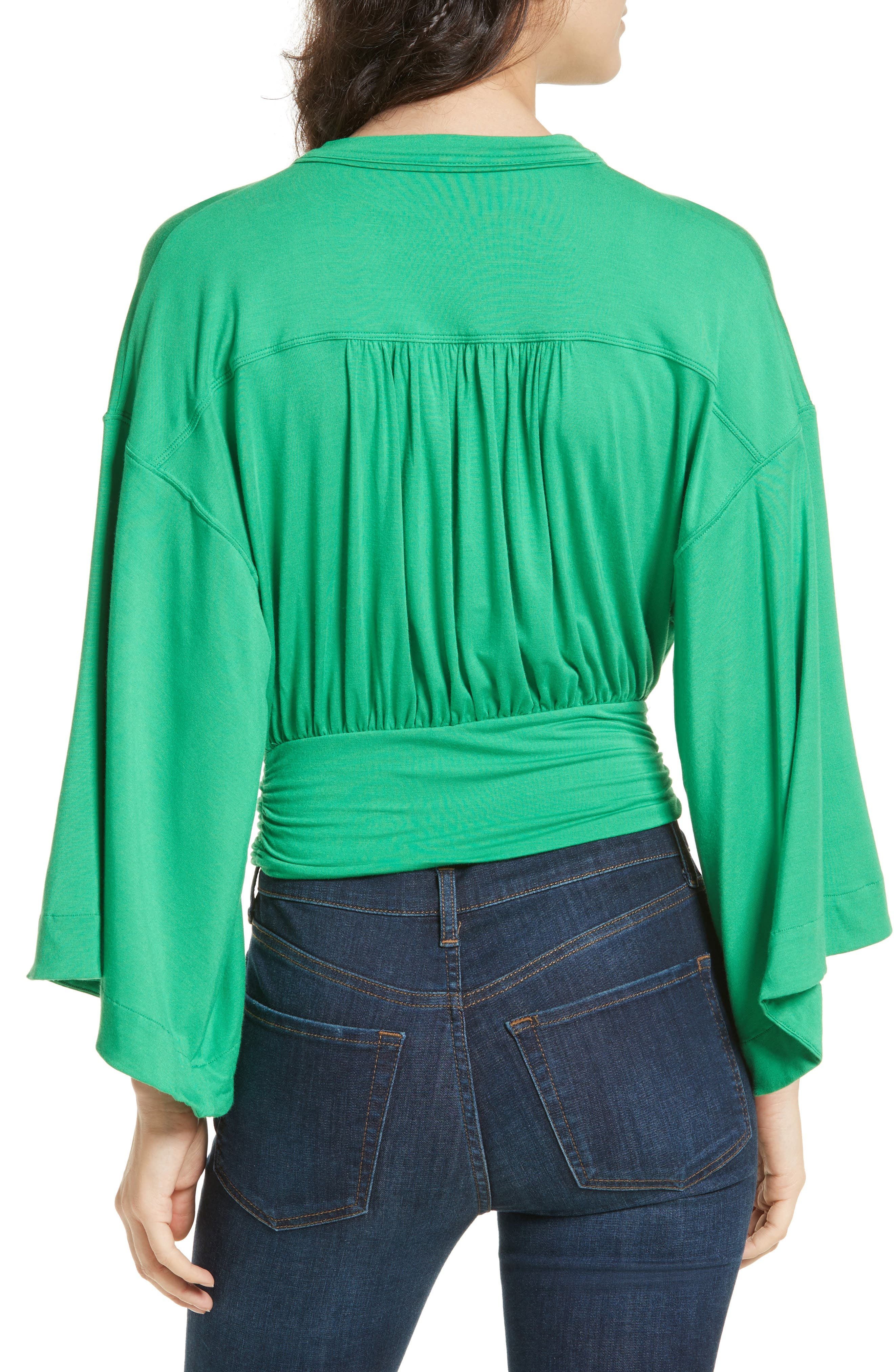 That's a Wrap Top,                             Alternate thumbnail 2, color,                             Green