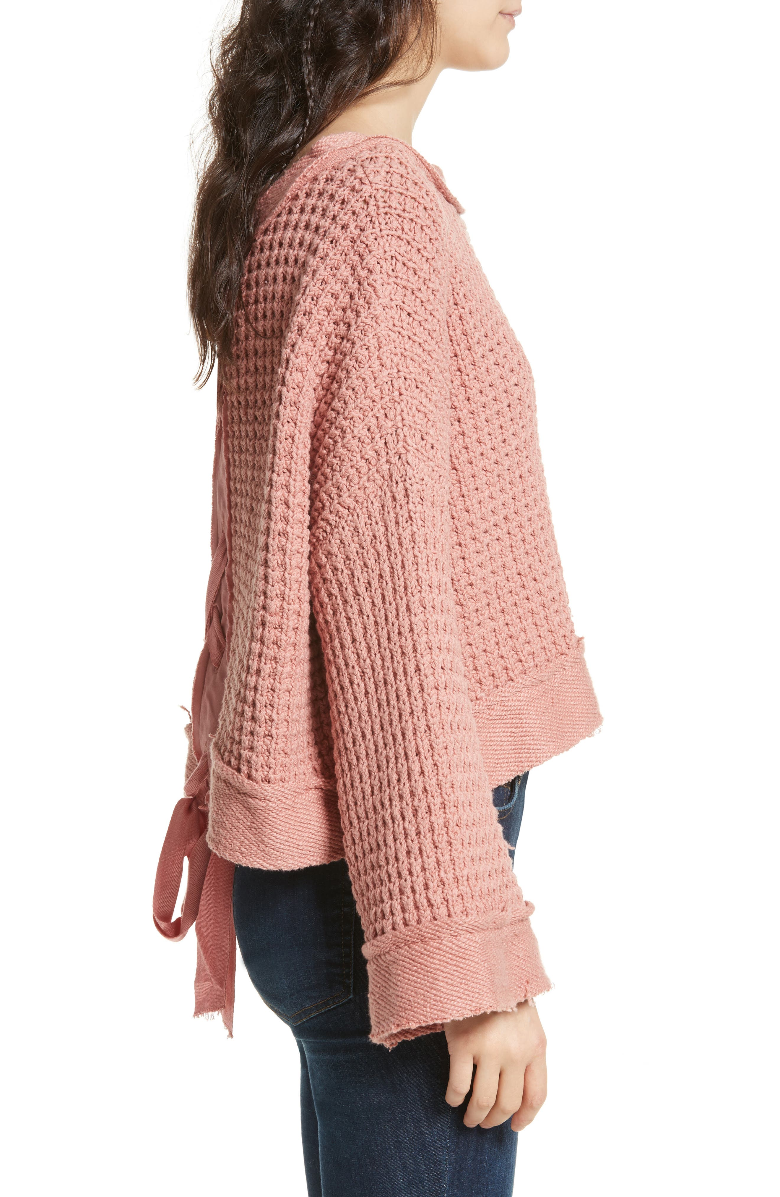 Maybe Baby Bell Sleeve Sweater,                             Alternate thumbnail 4, color,                             Rose