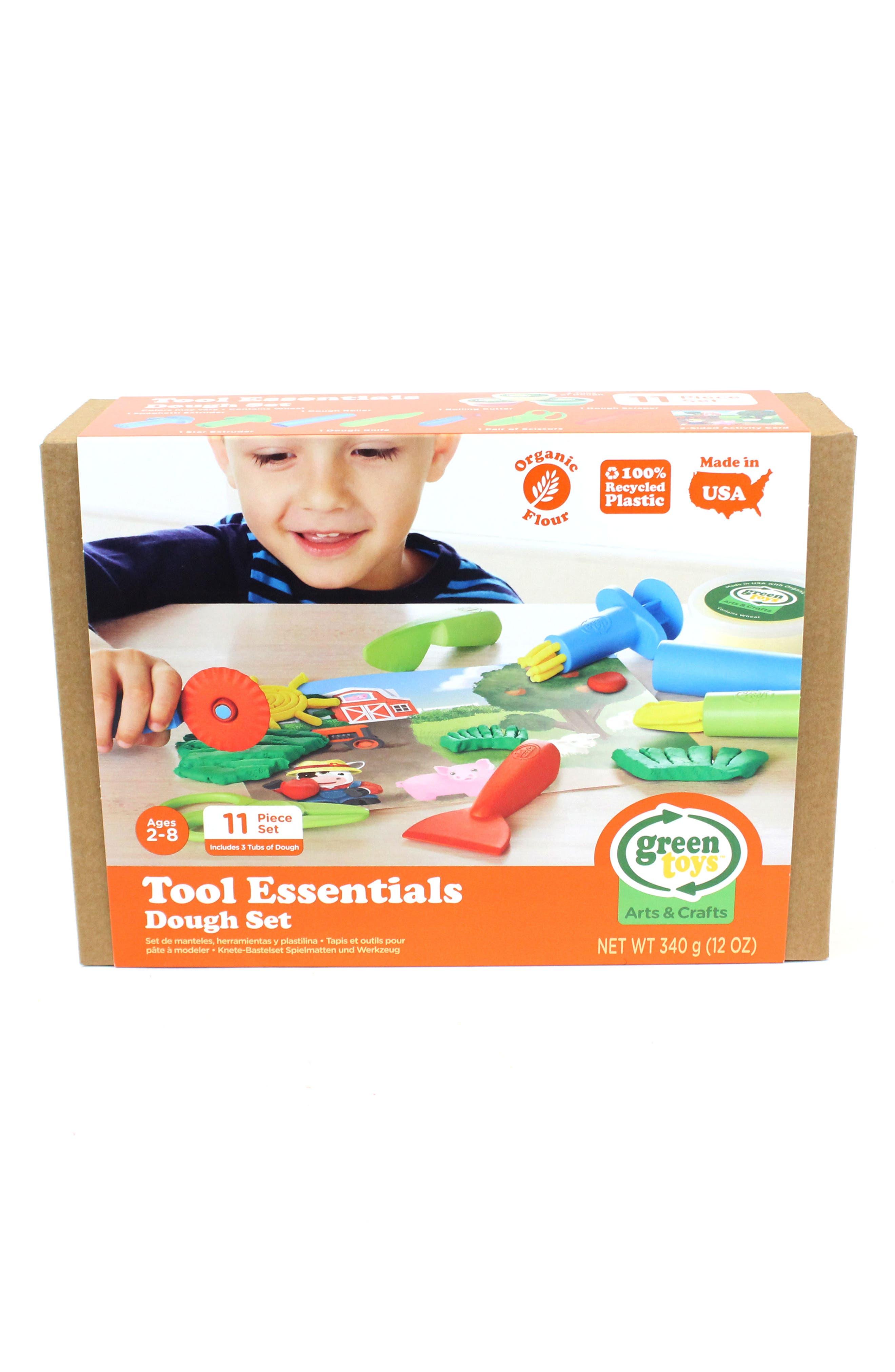 Green Toys 11-Piece Plastic Farm Tool Essentials Dough Set
