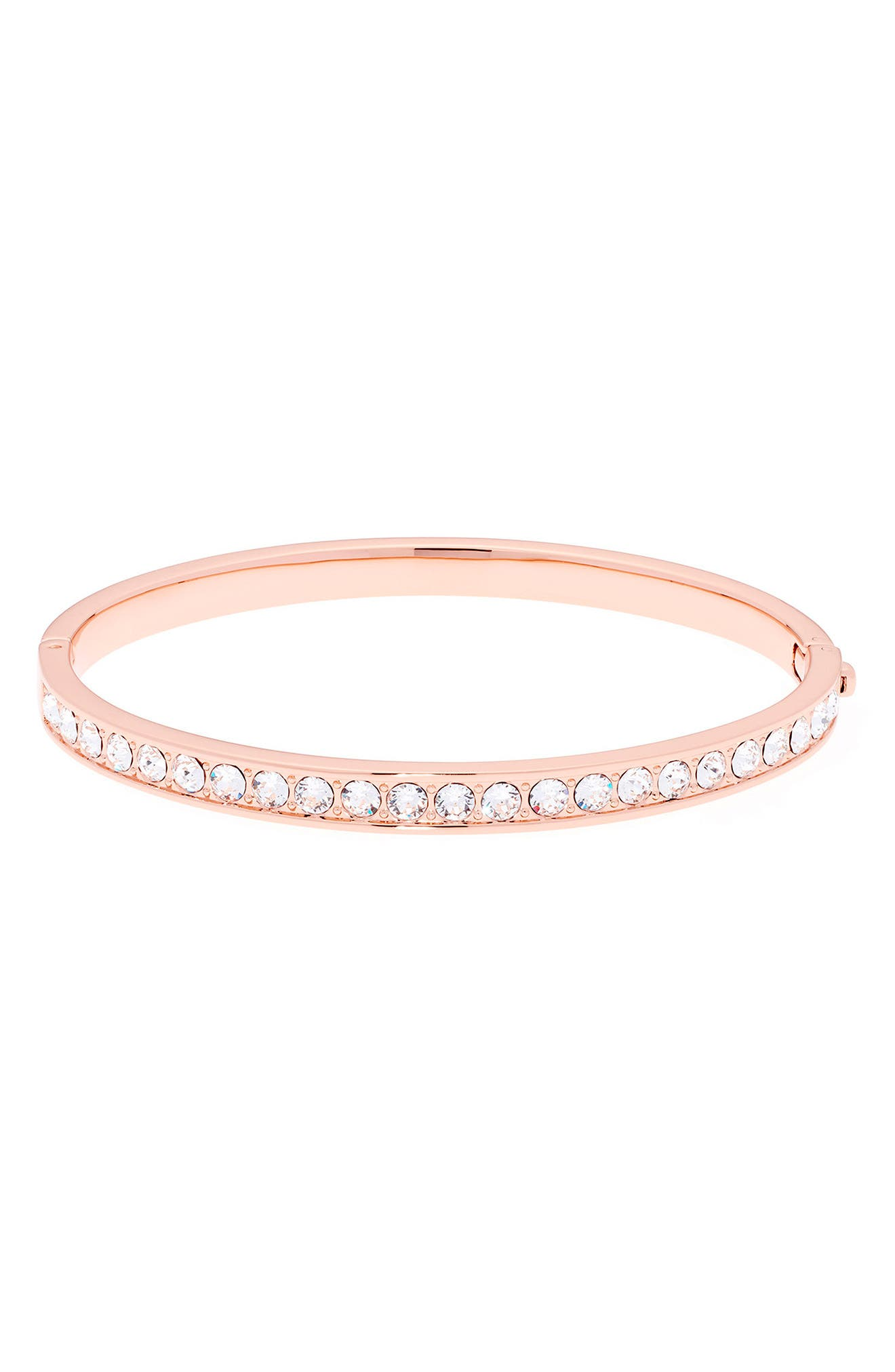 Clemara Hinge Bangle Bracelet,                         Main,                         color, Crystal