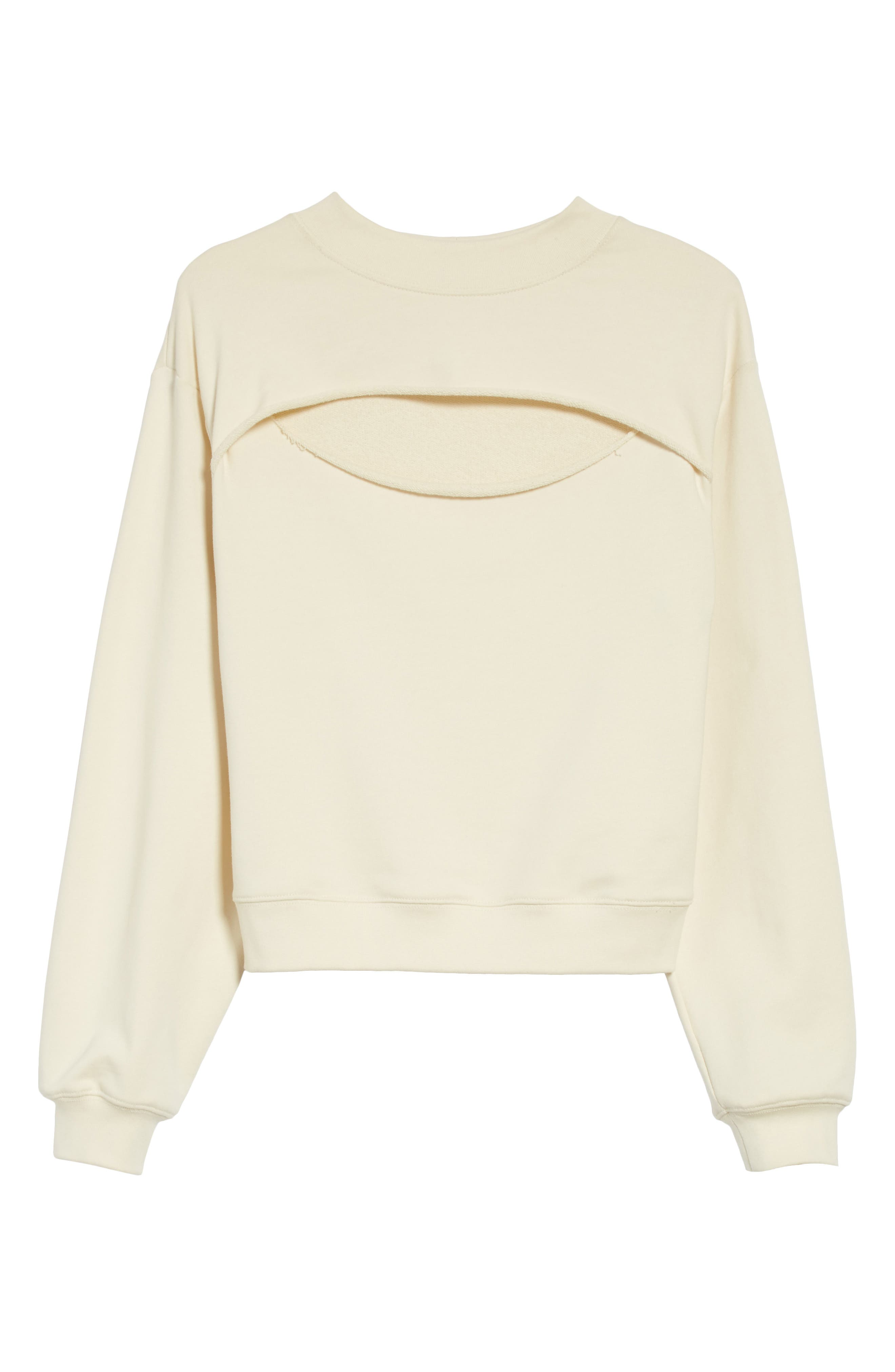 Alternate Image 6  - T by Alexander Wang Slit Front French Terry Top