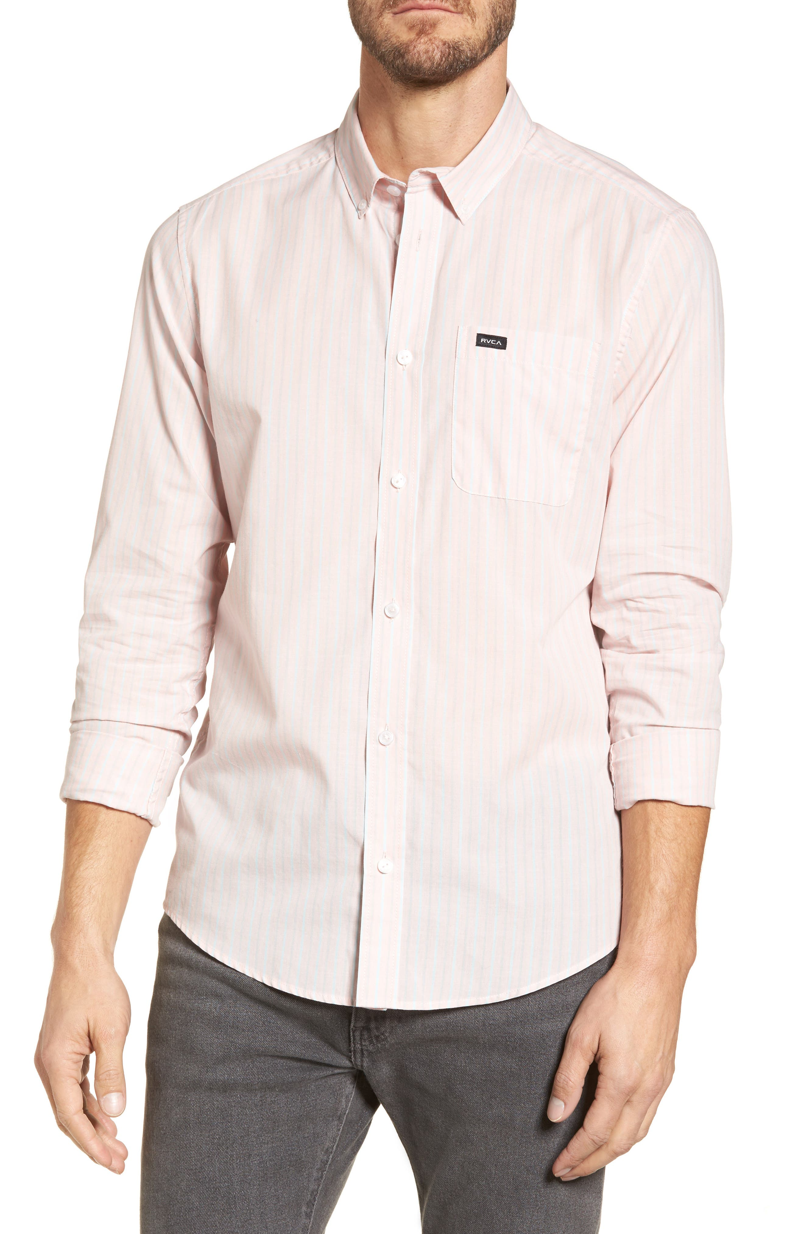 Alternate Image 1 Selected - RVCA Everyday Stripe Shirt