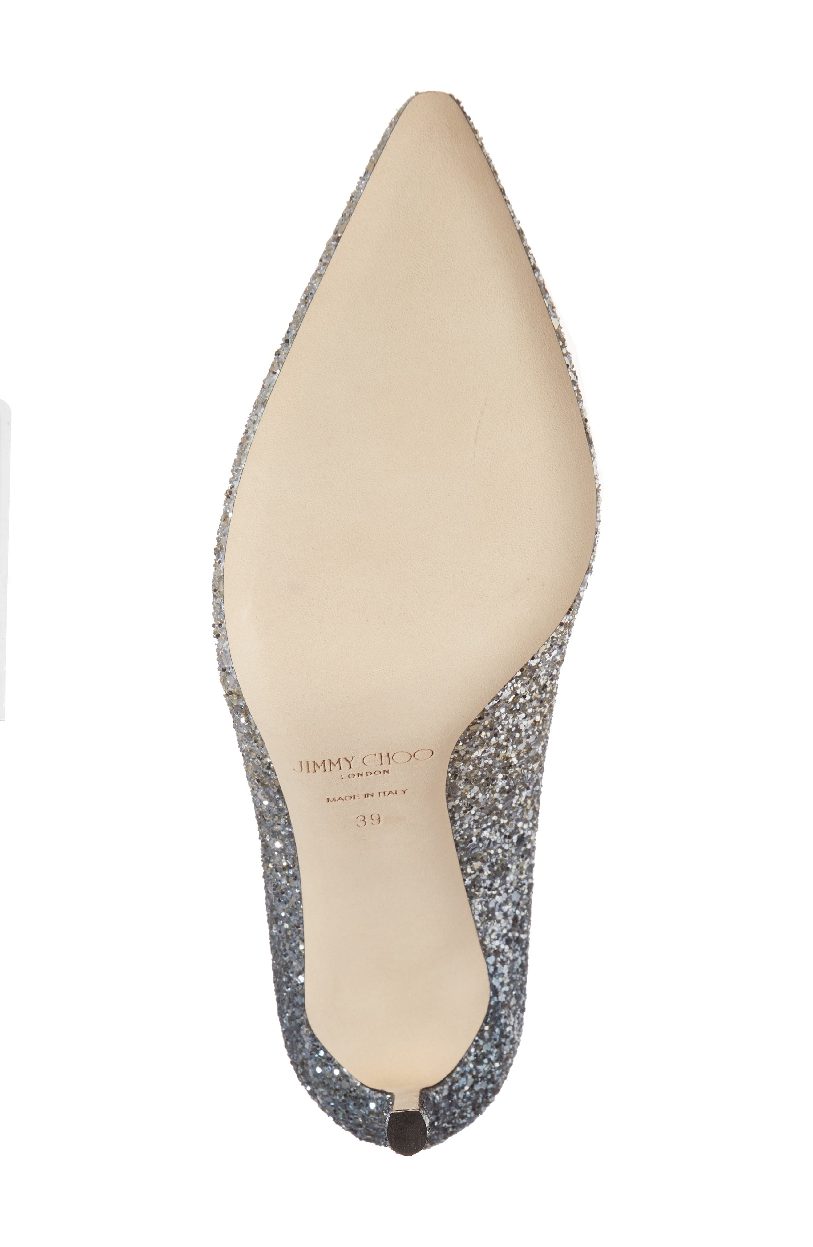 Romy Glitter Pump,                             Alternate thumbnail 3, color,                             Silver/ Dusk Blue
