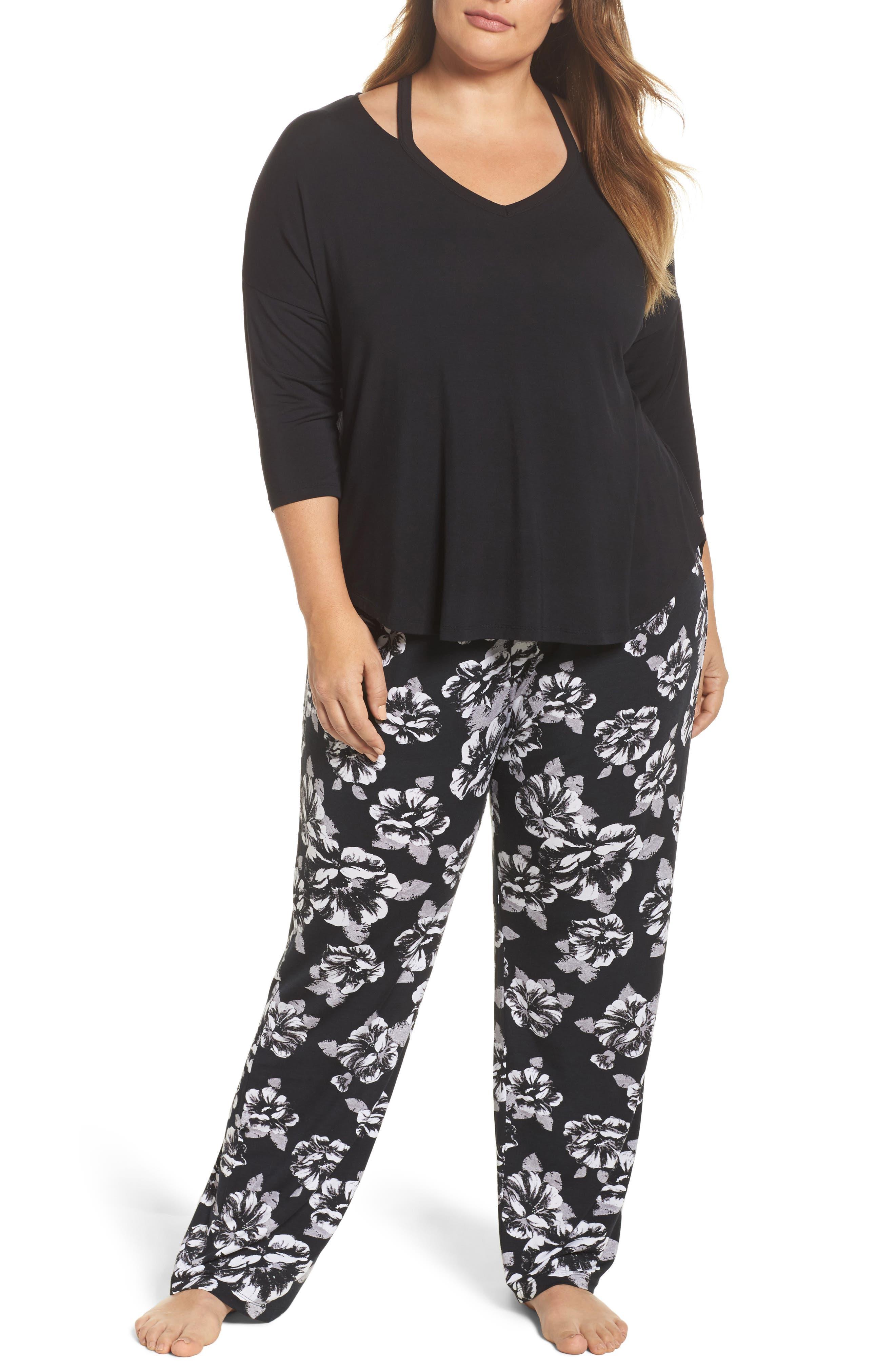 Pajama Pants,                             Alternate thumbnail 6, color,                             Black