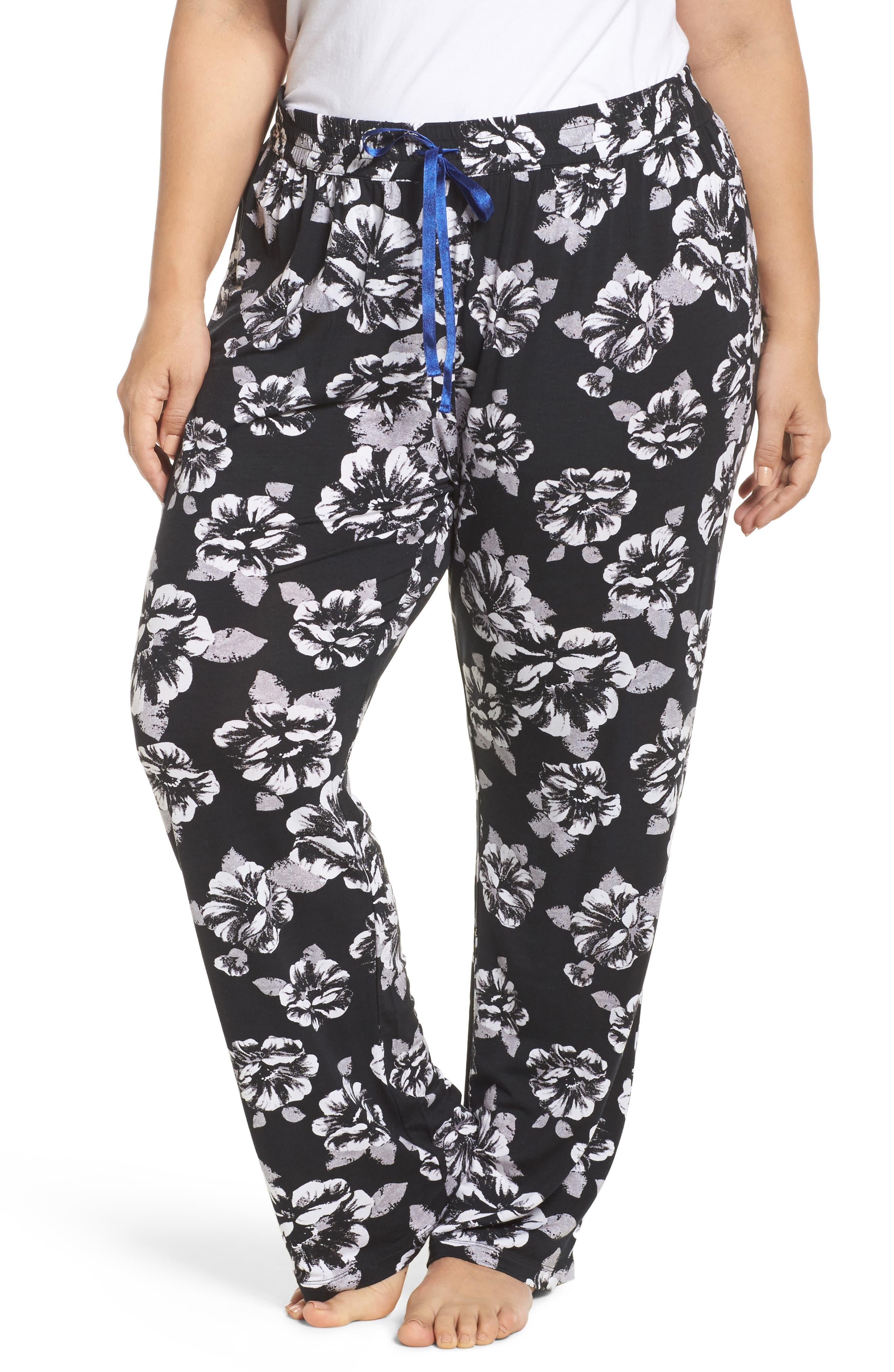 Pajama Pants,                             Main thumbnail 1, color,                             Black
