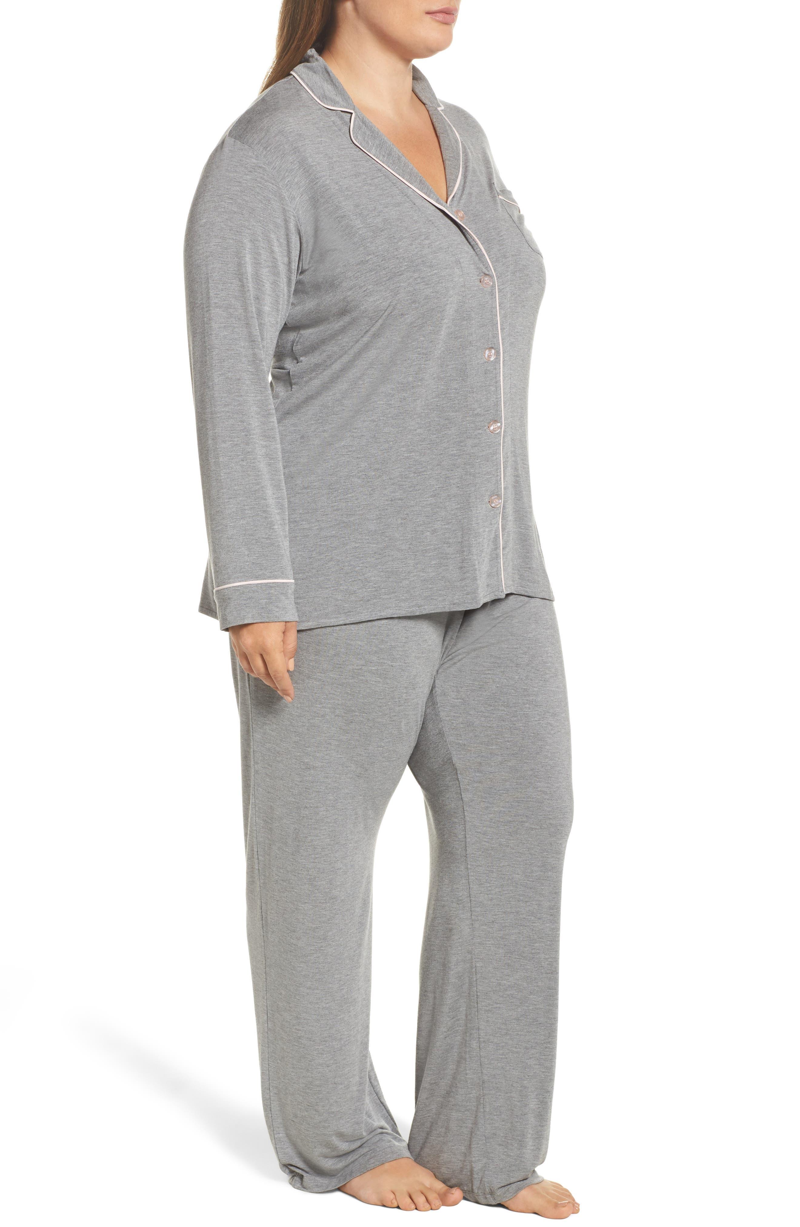 Alternate Image 3  - PJ Salvage Stretch Modal Pajamas & Eye Mask (Plus Size)