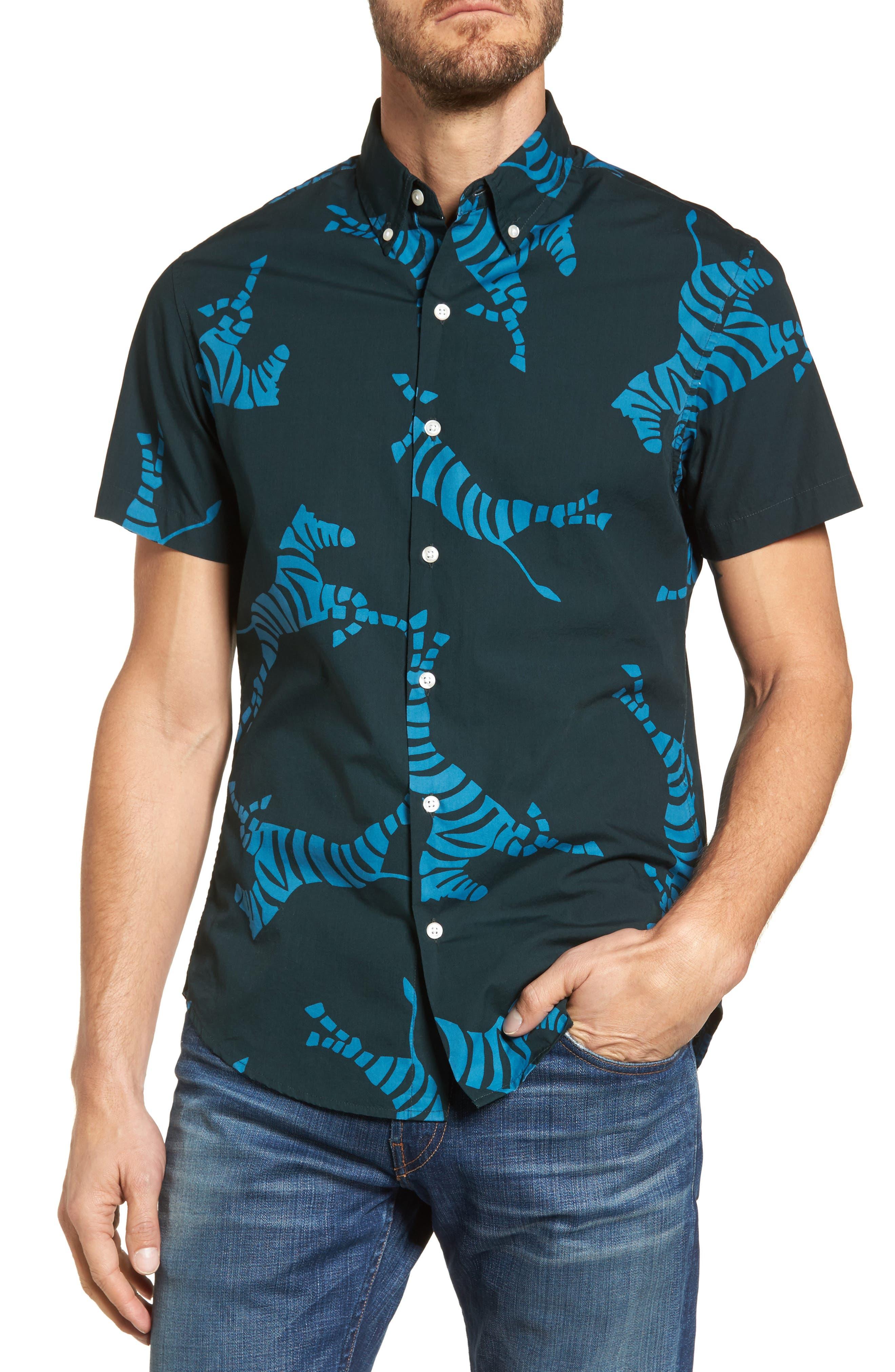 Alternate Image 1 Selected - Bonobos Slim Fit Zebra Sport Shirt