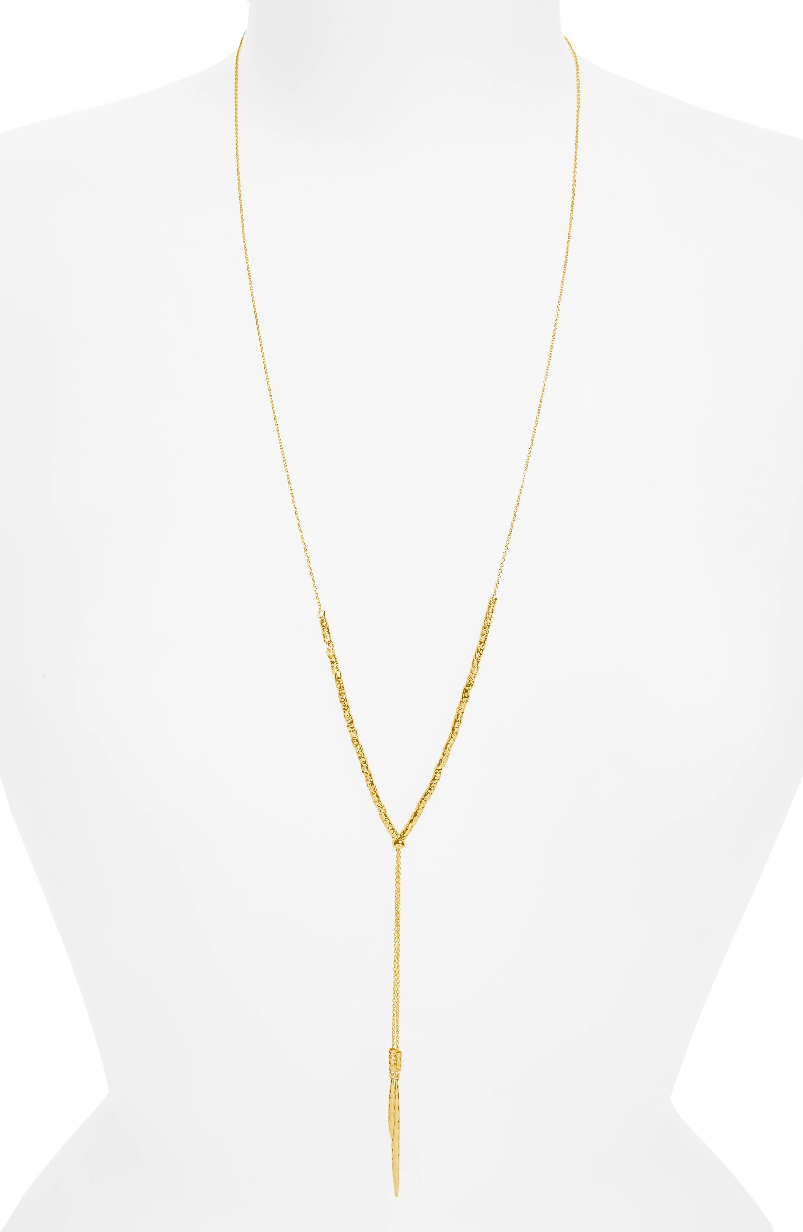 Laguna Adjustable Lariat Necklace,                             Alternate thumbnail 2, color,                             Gold