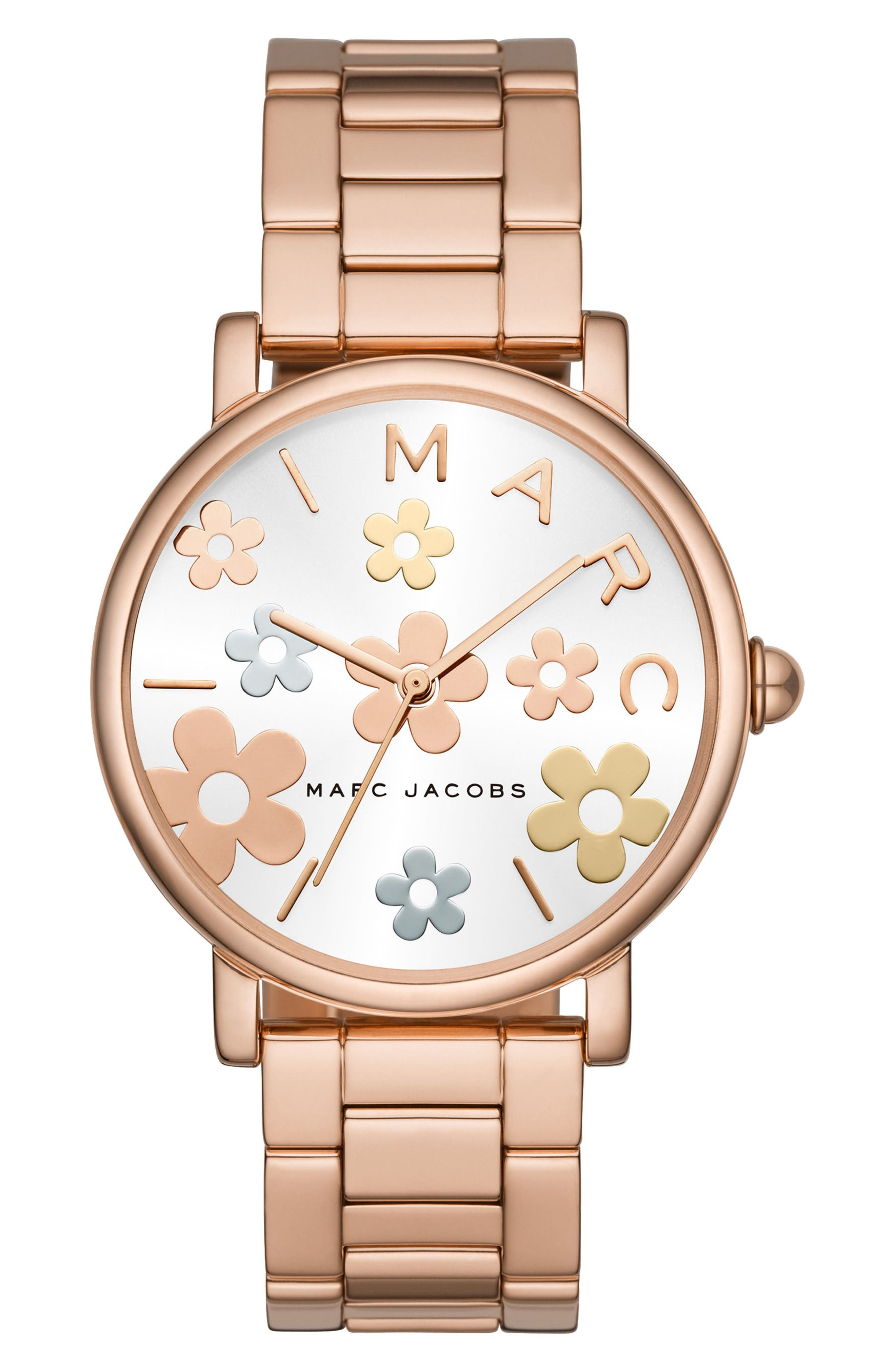 Classic Bracelet Watch, 36mm,                             Main thumbnail 1, color,                             Rose Gold/ White/ Rose Gold