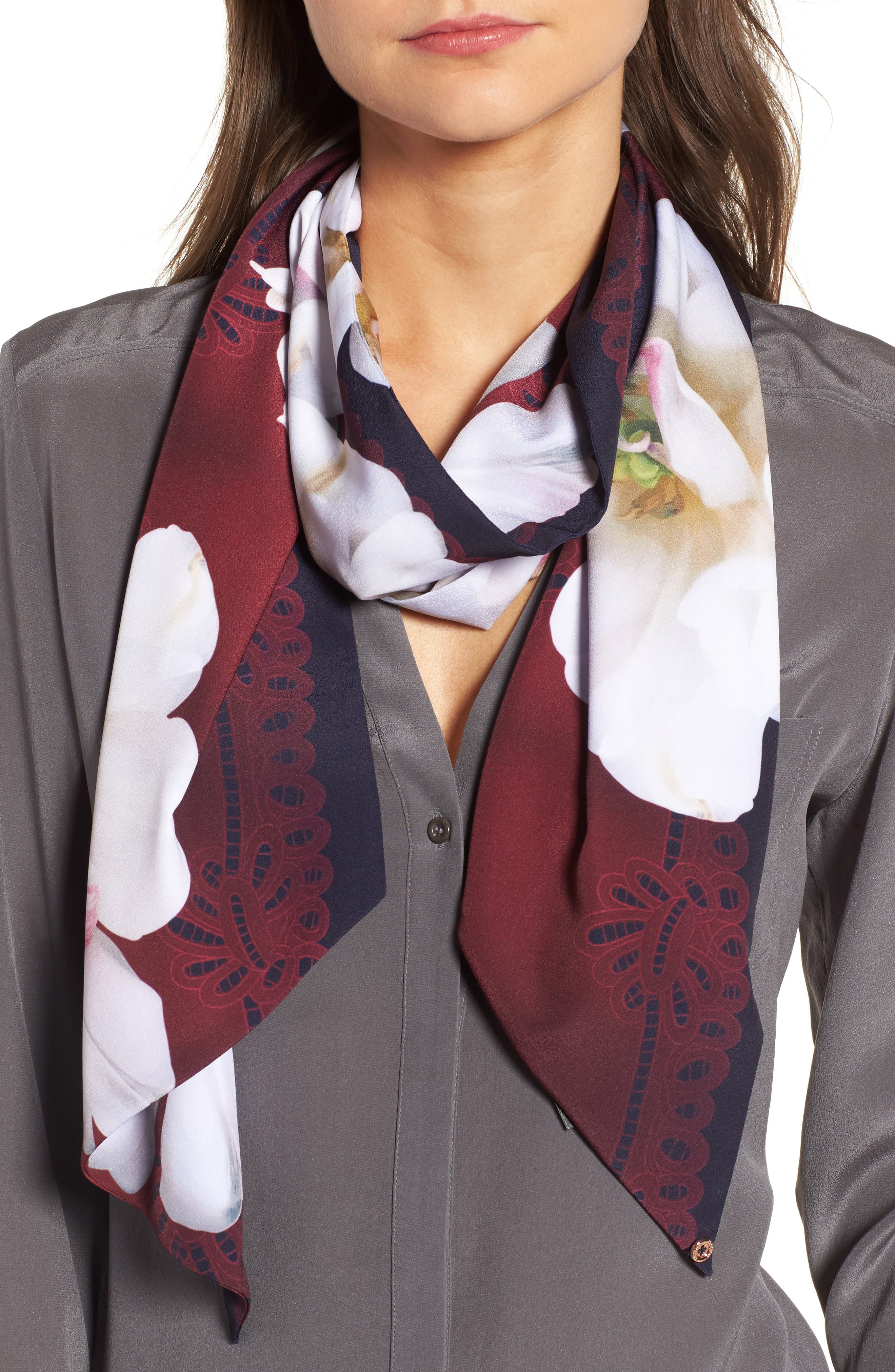 Ted Baker London Gardenia Skinny Scarf