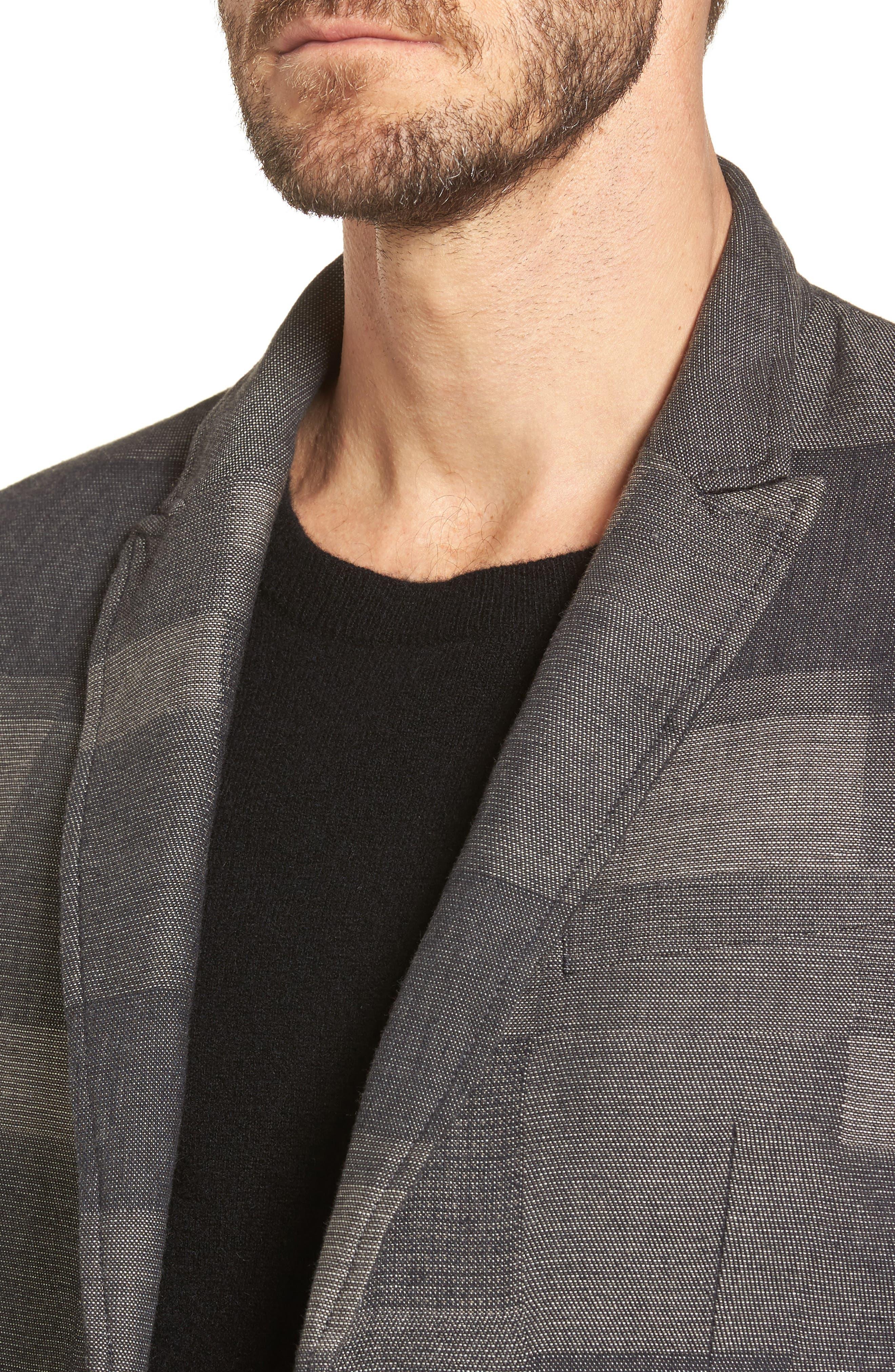 Cotton & Linen Sport Coat,                             Alternate thumbnail 4, color,                             Cement