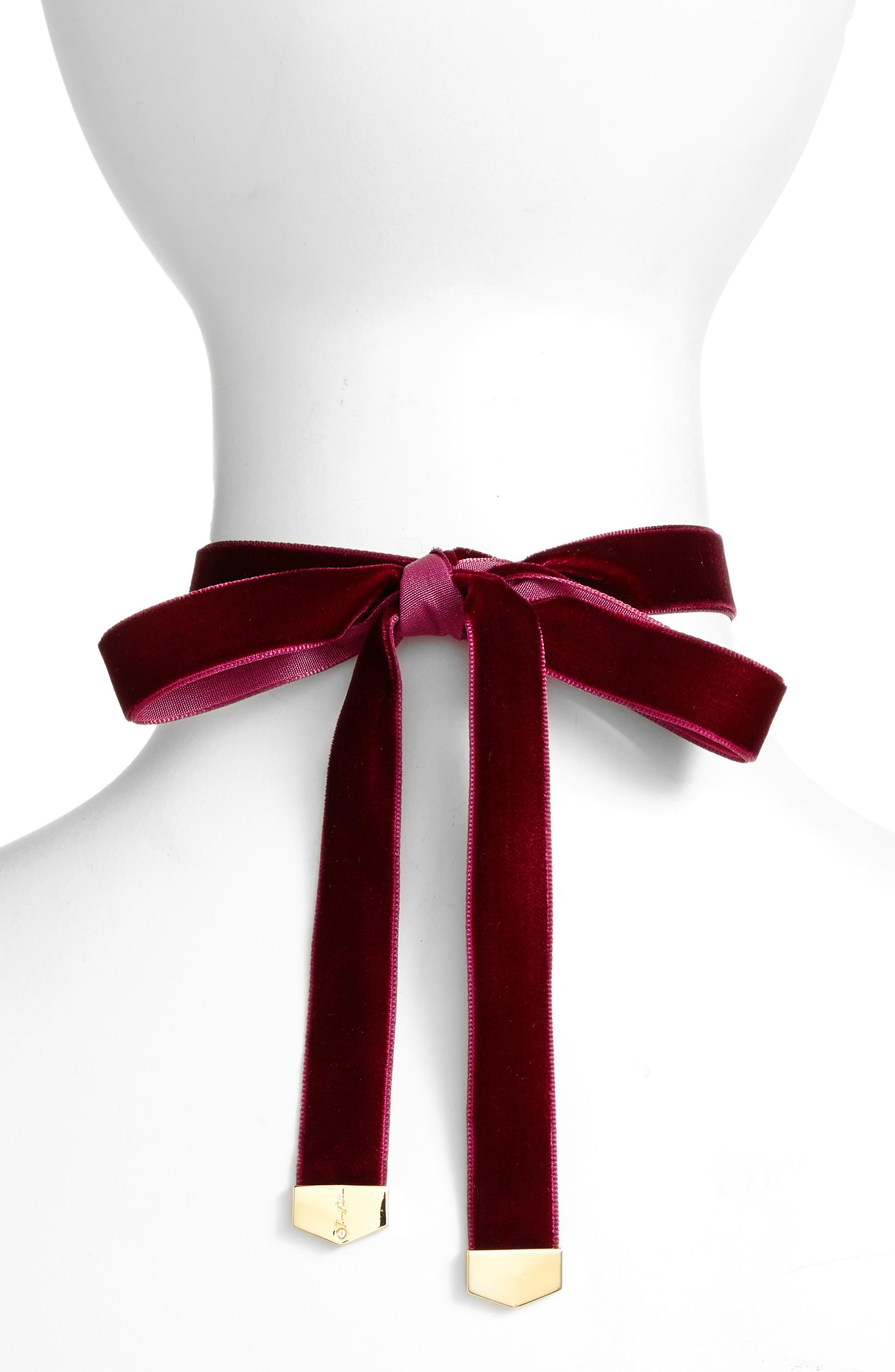 Alternate Image 2  - Jenny Packham Embellished Velvet Wrap Choker Necklace