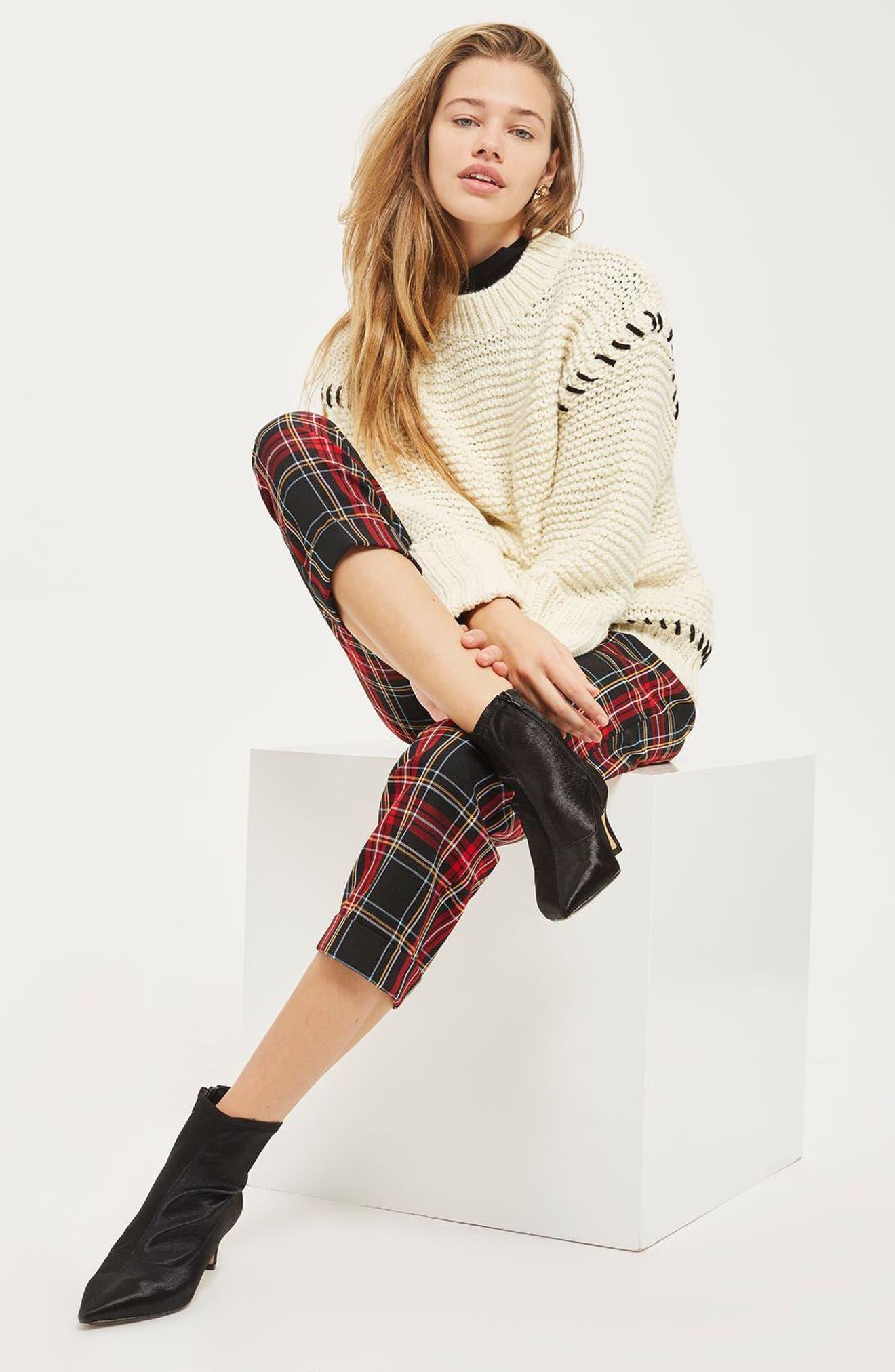 Whipstitch Sweater,                             Alternate thumbnail 2, color,                             Cream Multi
