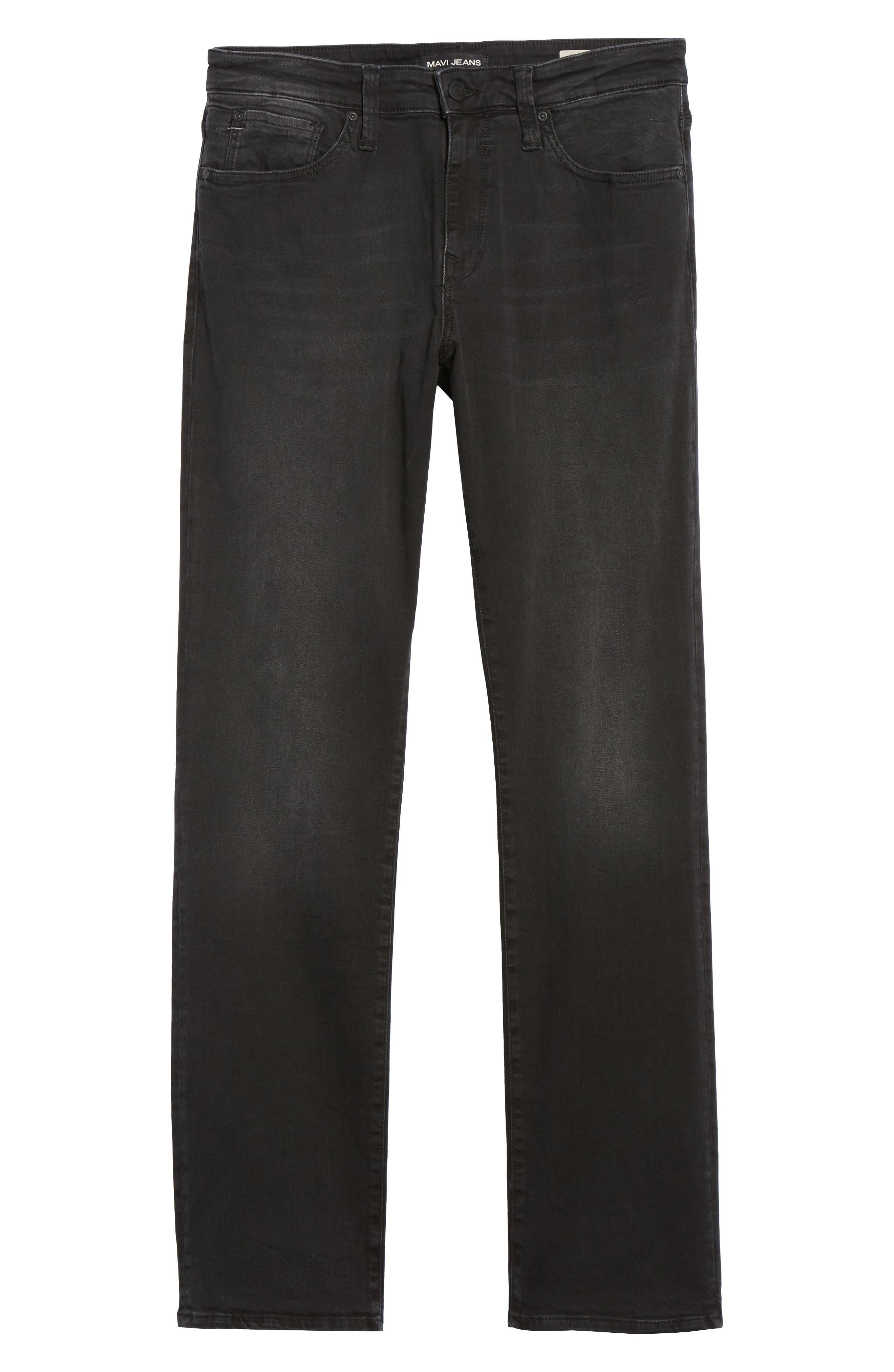 Alternate Image 6  - Mavi Jeans Myles Straight Fit Jeans (Smoke Chelsea)