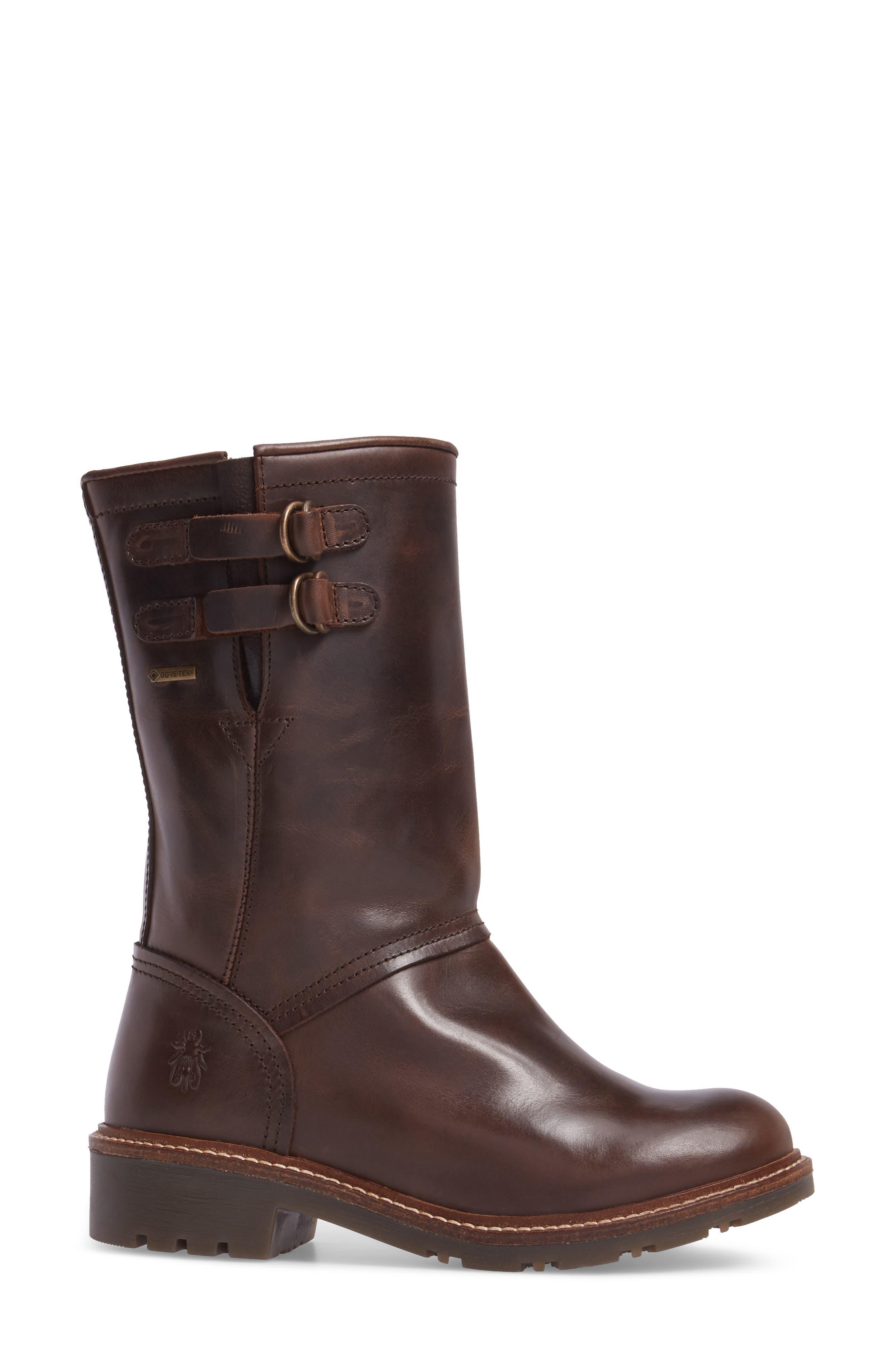 Sasi Waterproof Gore-Tex<sup>®</sup> Boot,                             Alternate thumbnail 3, color,                             Dark Brown Rug Leather