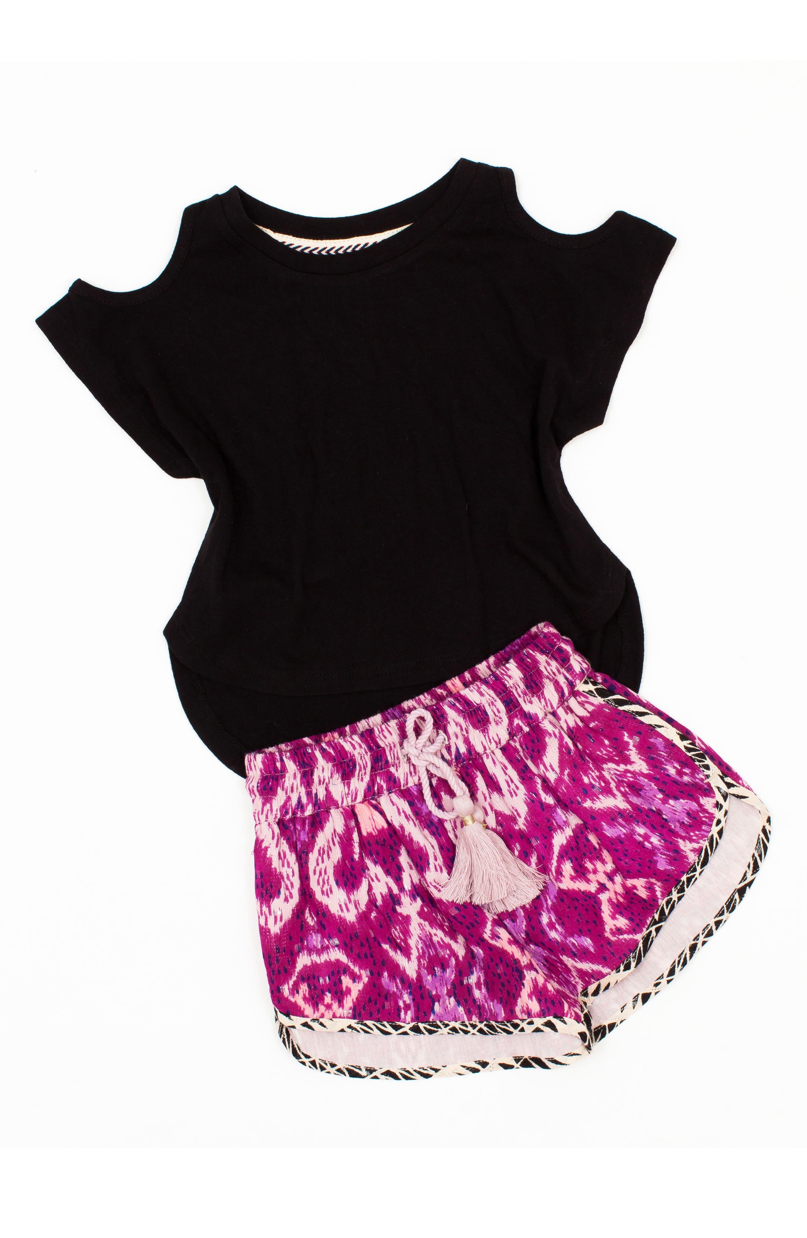 Print Shorts,                             Alternate thumbnail 3, color,                             Magenta