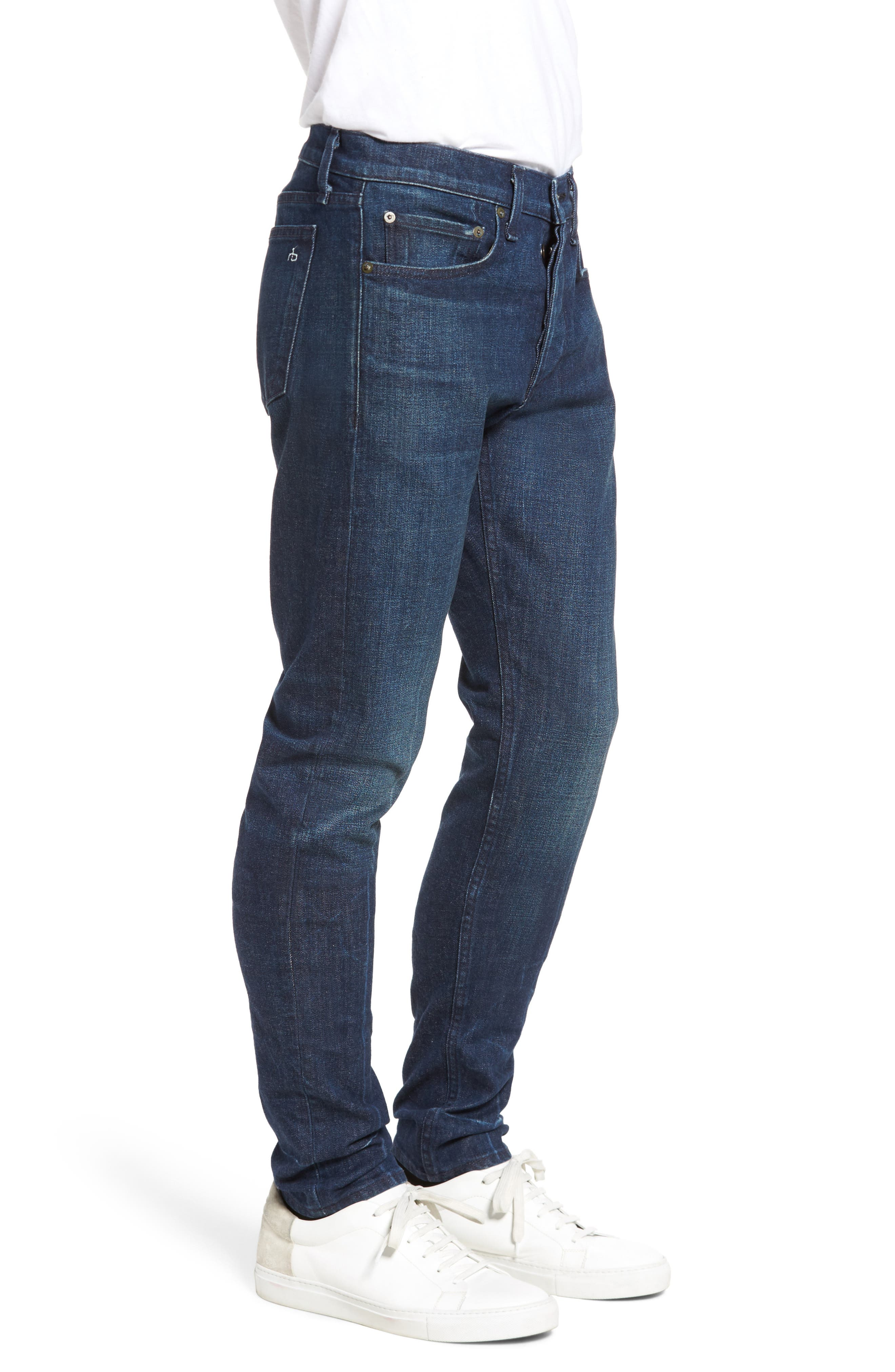 Fit 1 Skinny Fit Jeans,                             Alternate thumbnail 3, color,                             Snaps