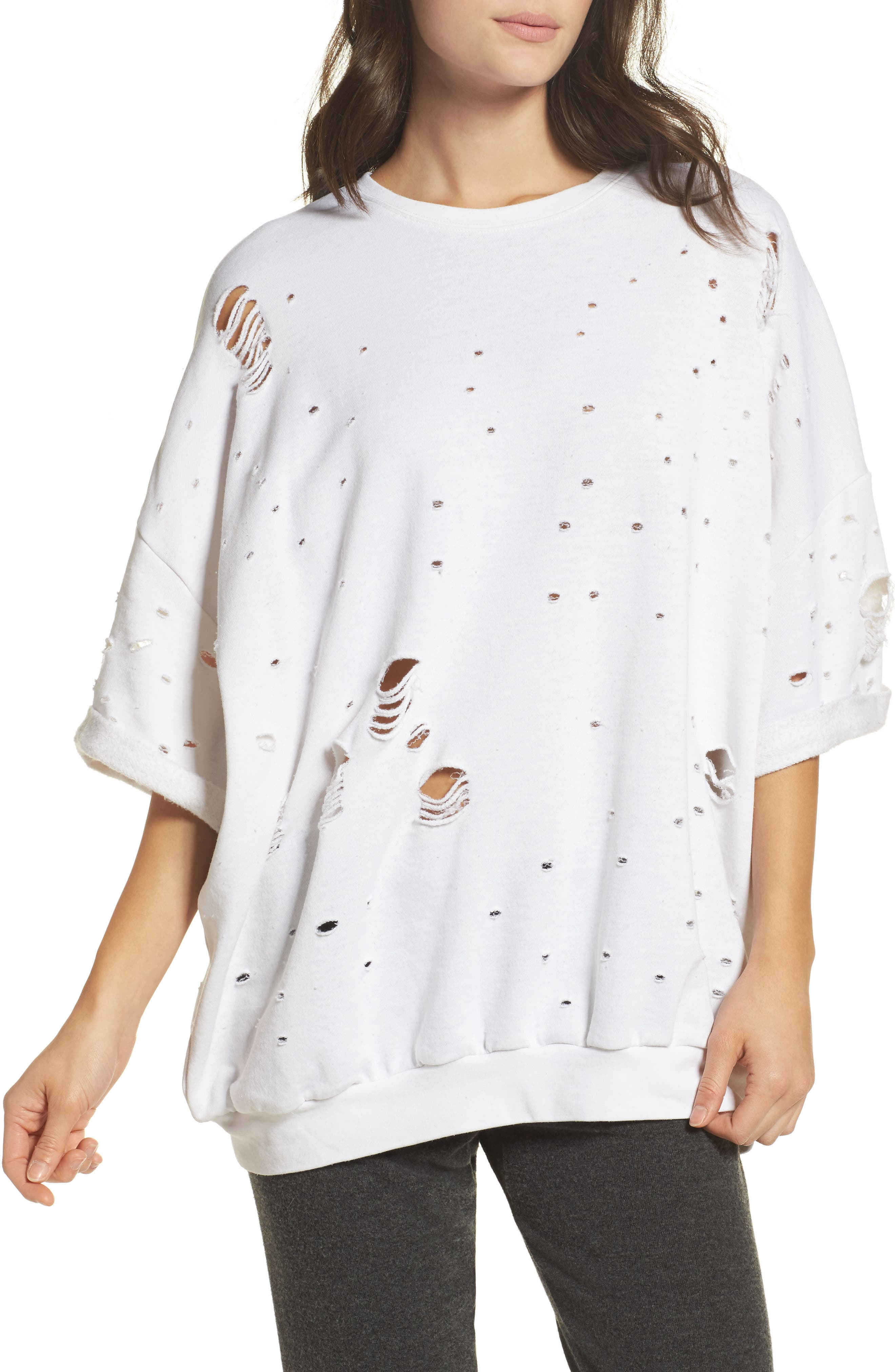 Thrasher Sweatshirt,                         Main,                         color, White