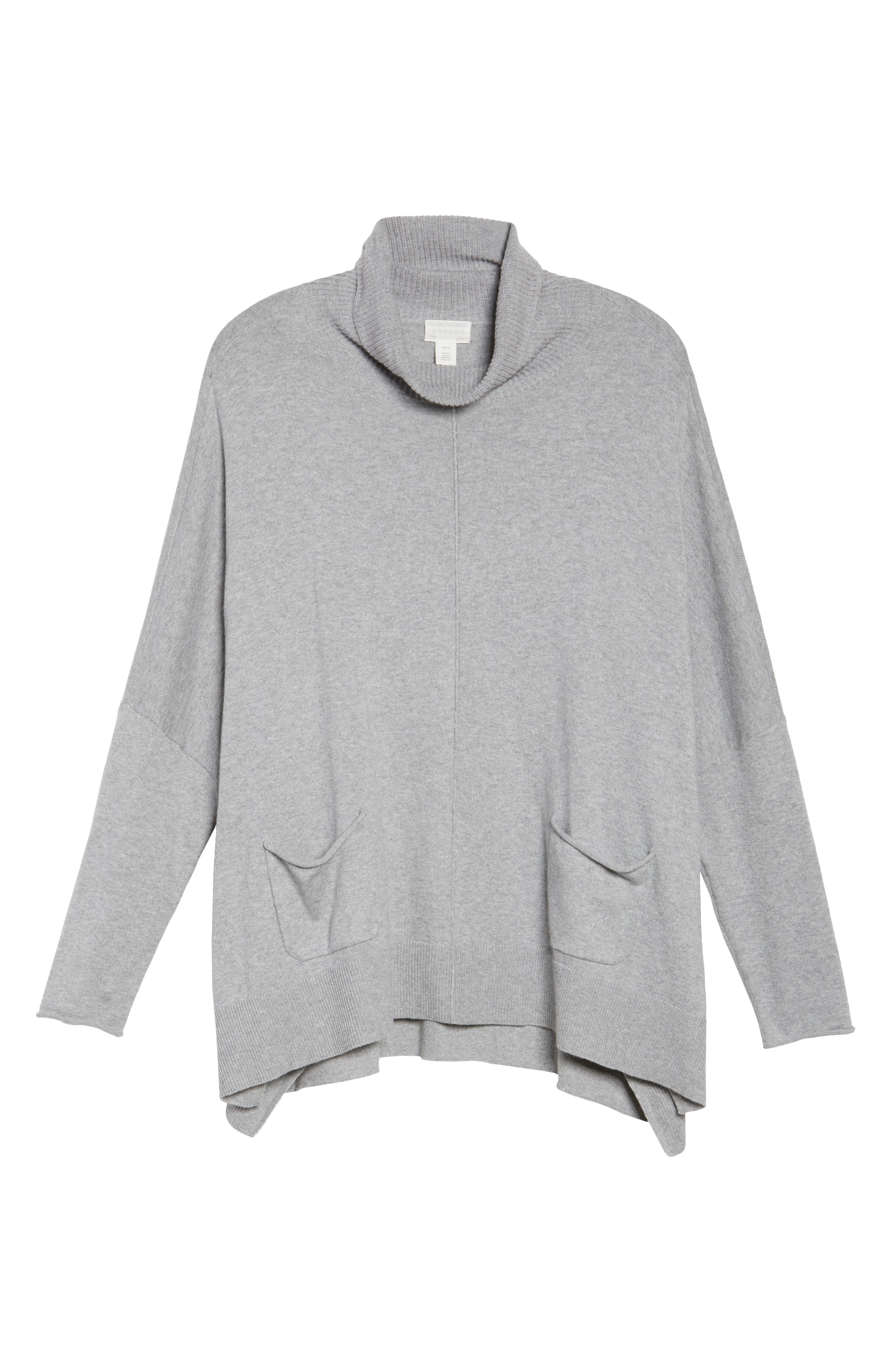Relaxed Cotton & Cashmere Sweater,                             Alternate thumbnail 6, color,                             Grey Heather