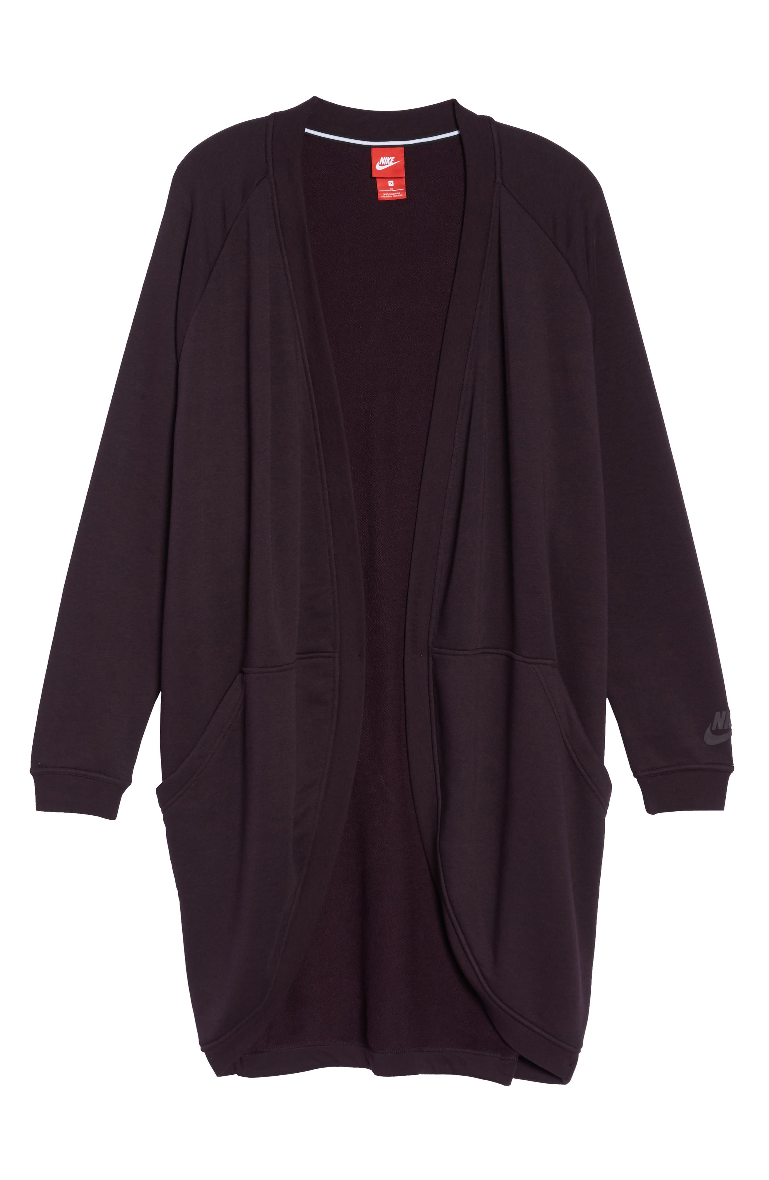 Sportswear Modern Cardigan,                             Alternate thumbnail 5, color,                             Port Wine/ Port Wine