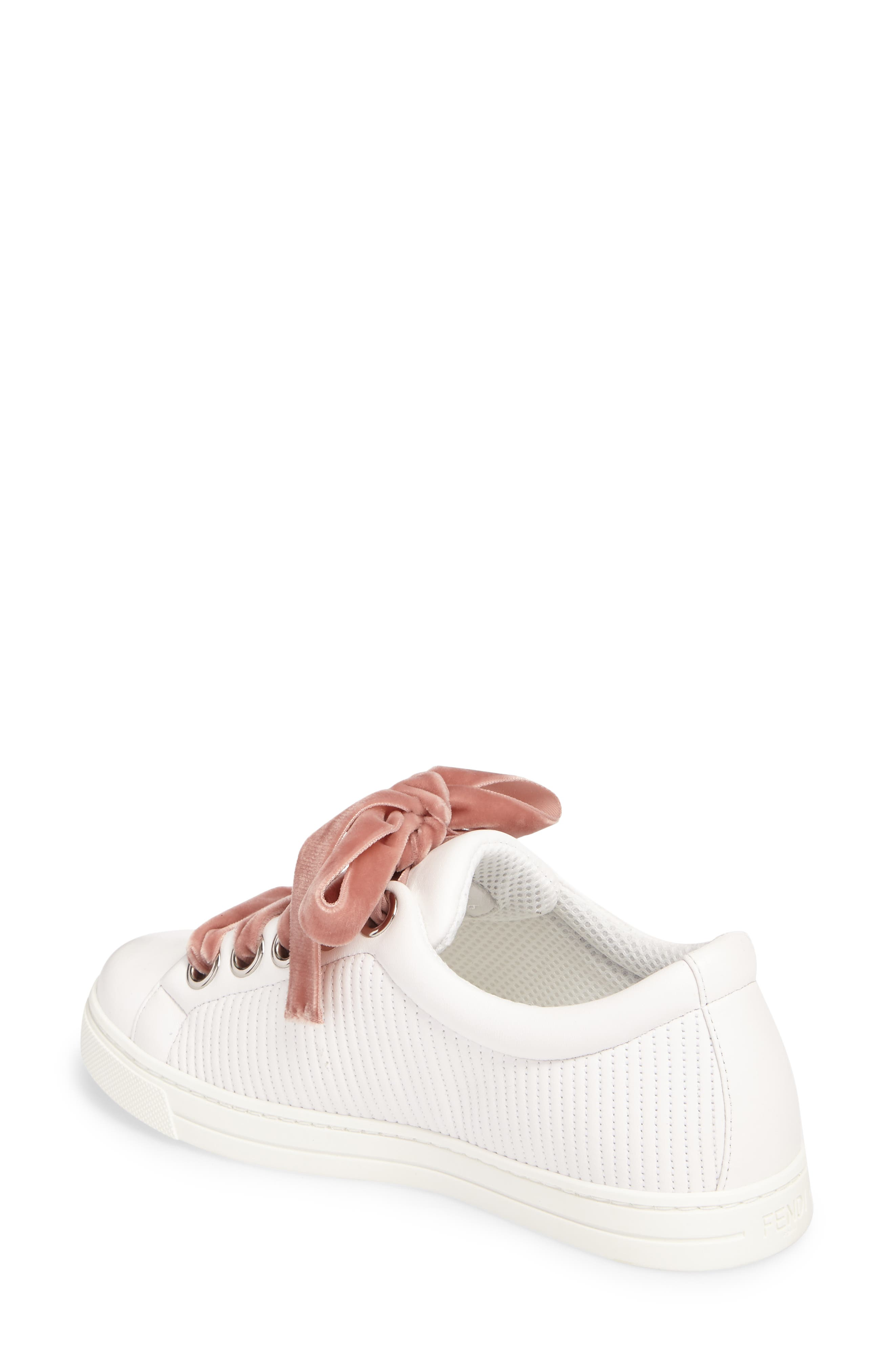 Matelassé Sneaker,                             Alternate thumbnail 2, color,                             White