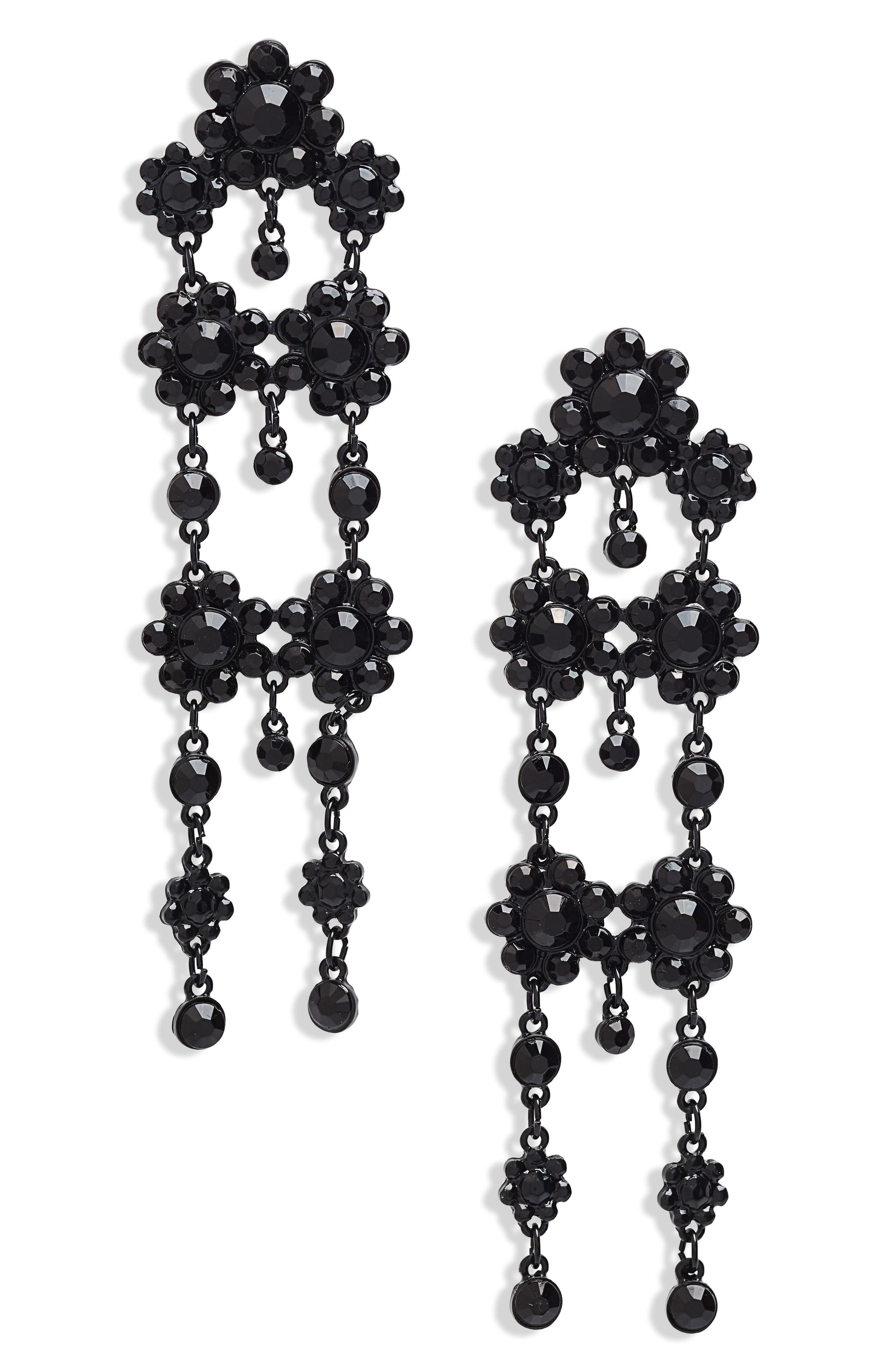 BP. Floral Tassel Drop Earrings