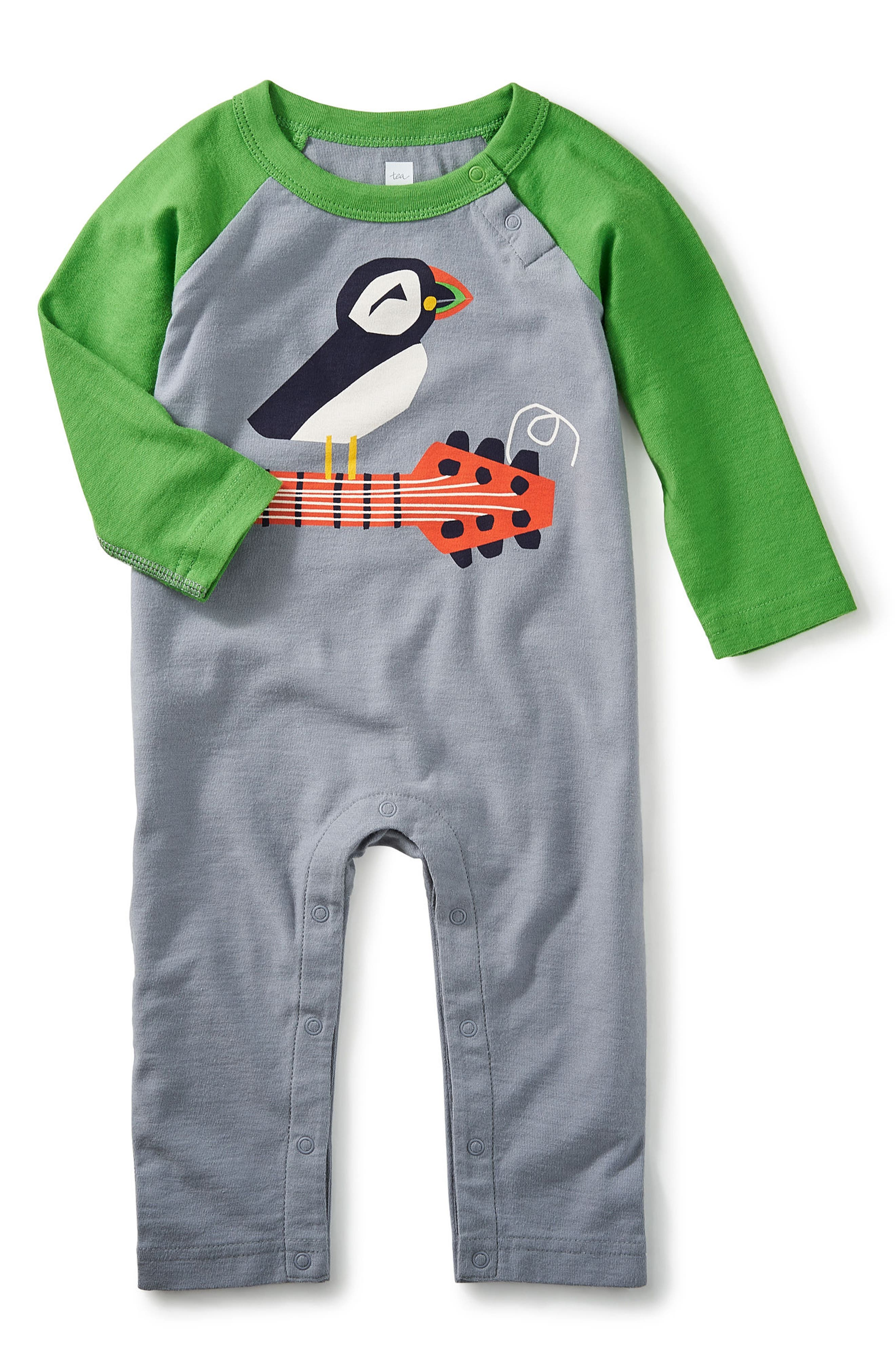 Tea Collection Puffin Punk Romper (Baby Boys)