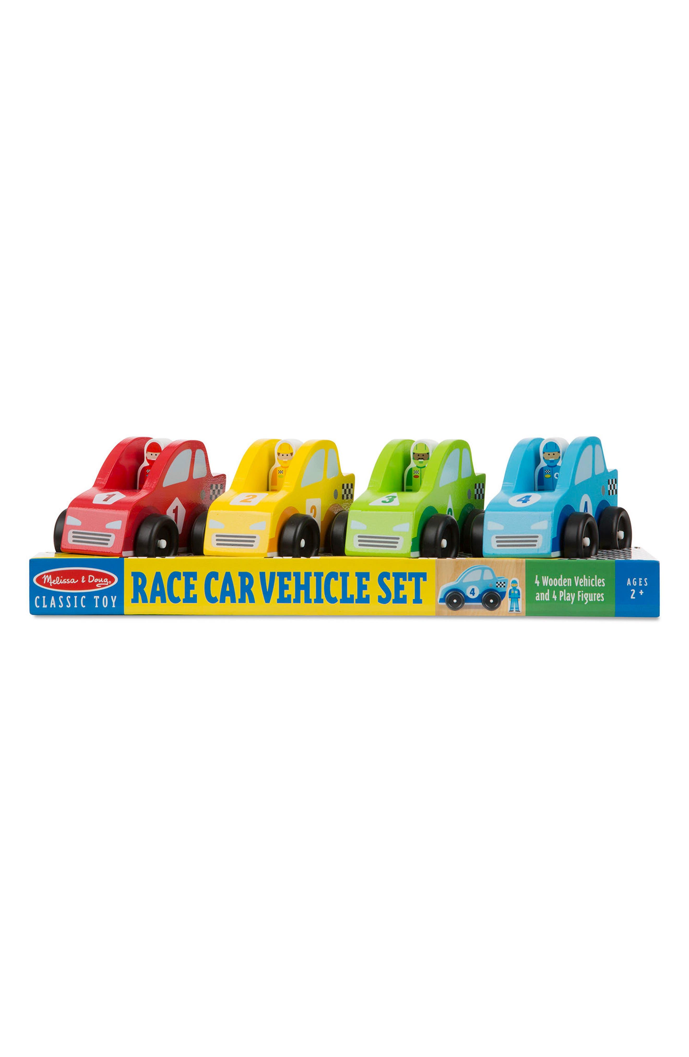 Melissa & Doug 8-Piece Racecar & Driver Play Set