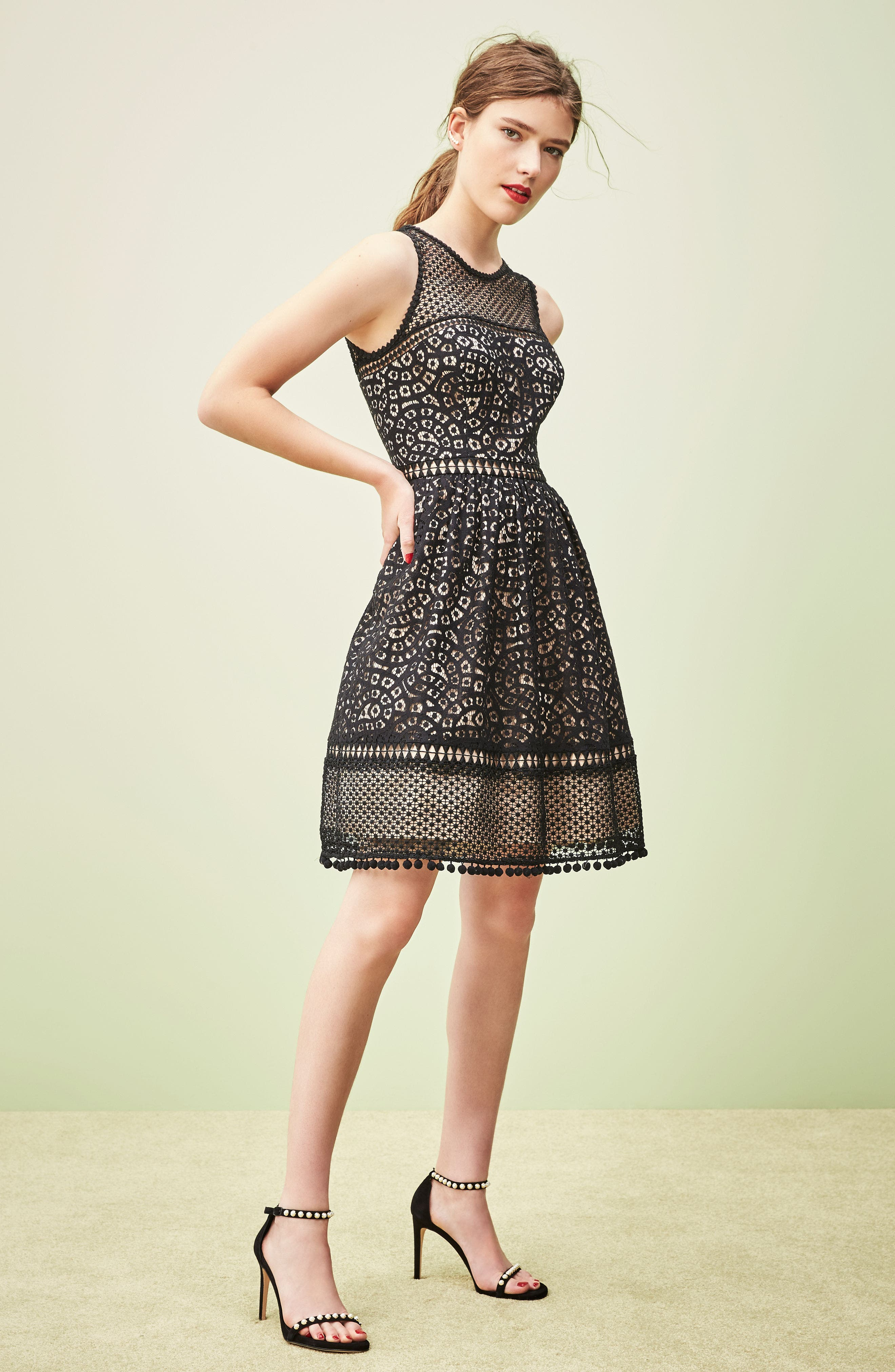 Alternate Image 8  - Eliza J Lace Fit & Flare Dress