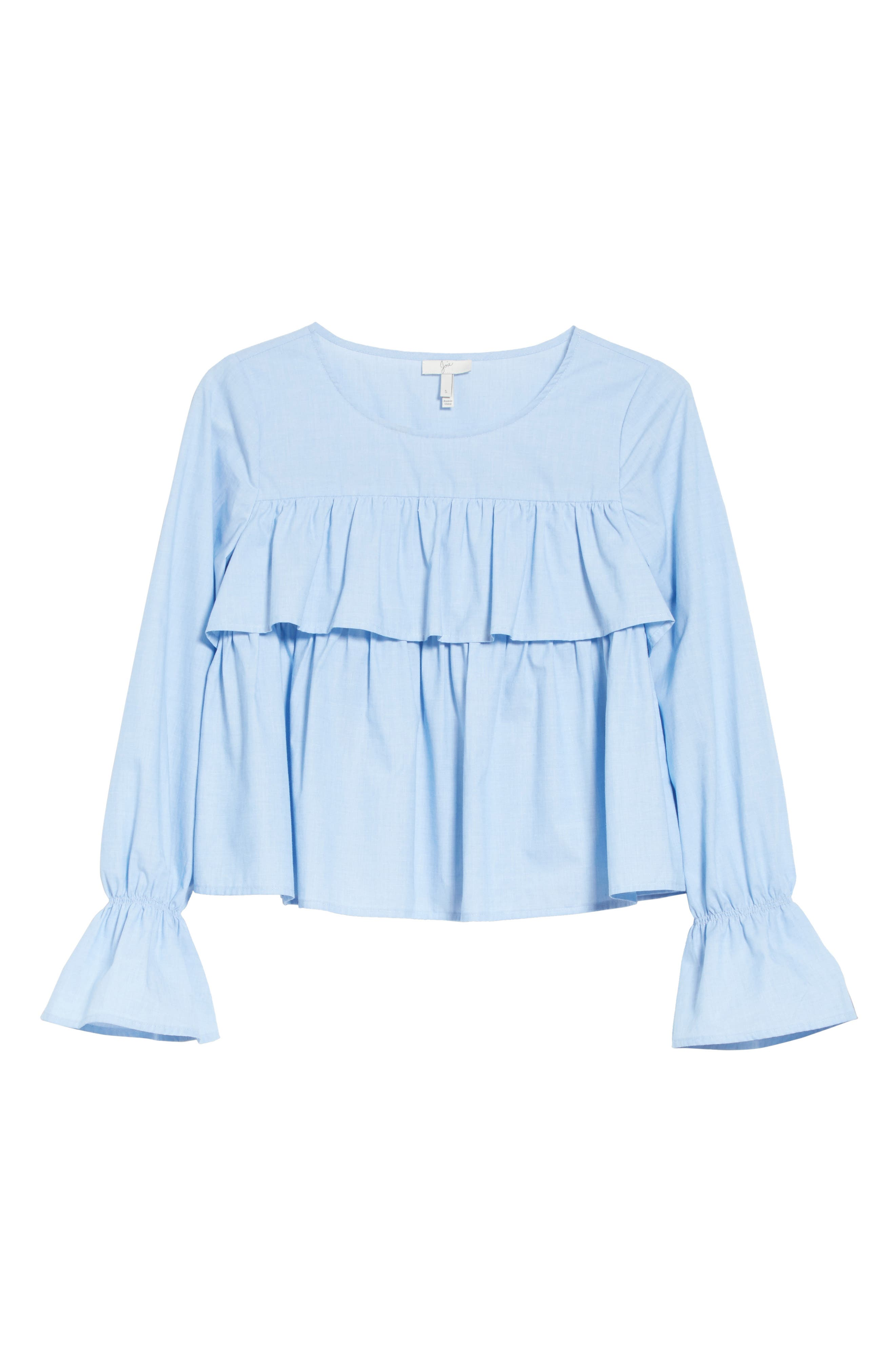 Adotte Cotton Top,                             Alternate thumbnail 6, color,                             Maritime Chambray