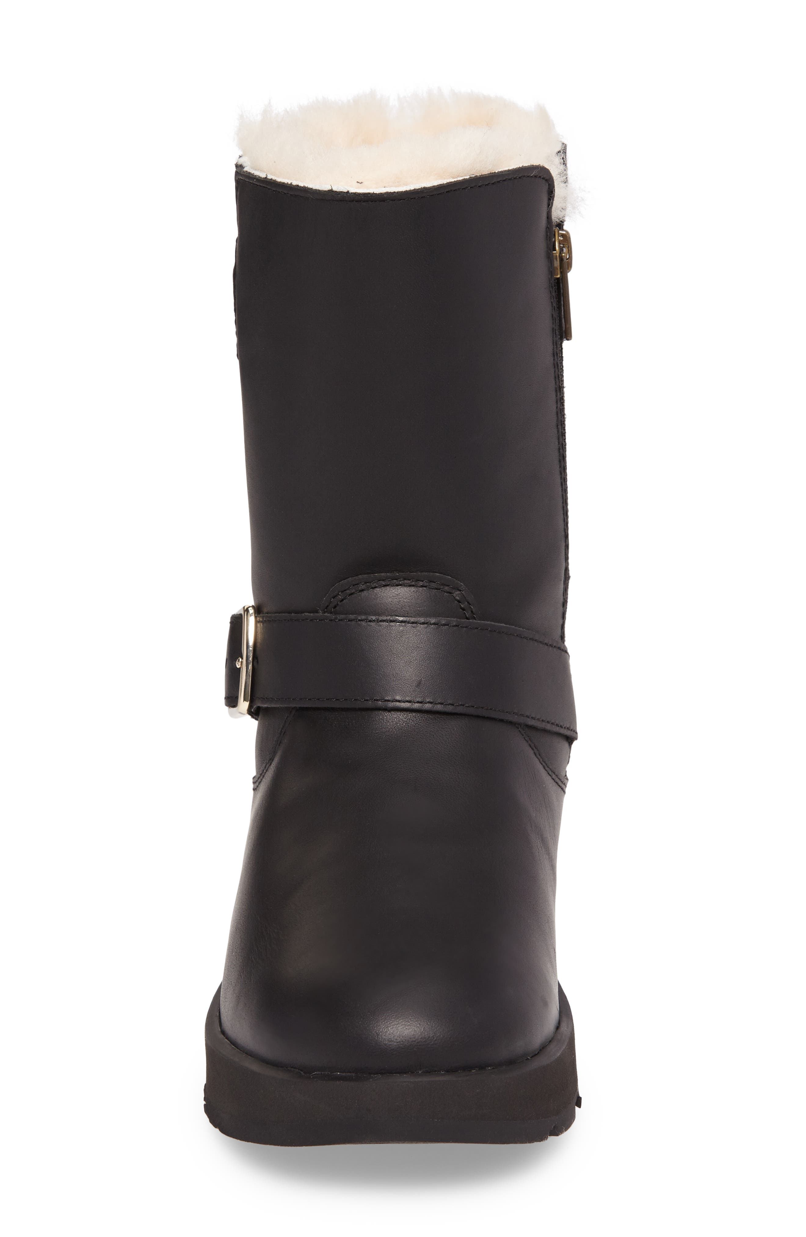 Breida Waterproof Boot,                             Alternate thumbnail 4, color,                             Black Leather
