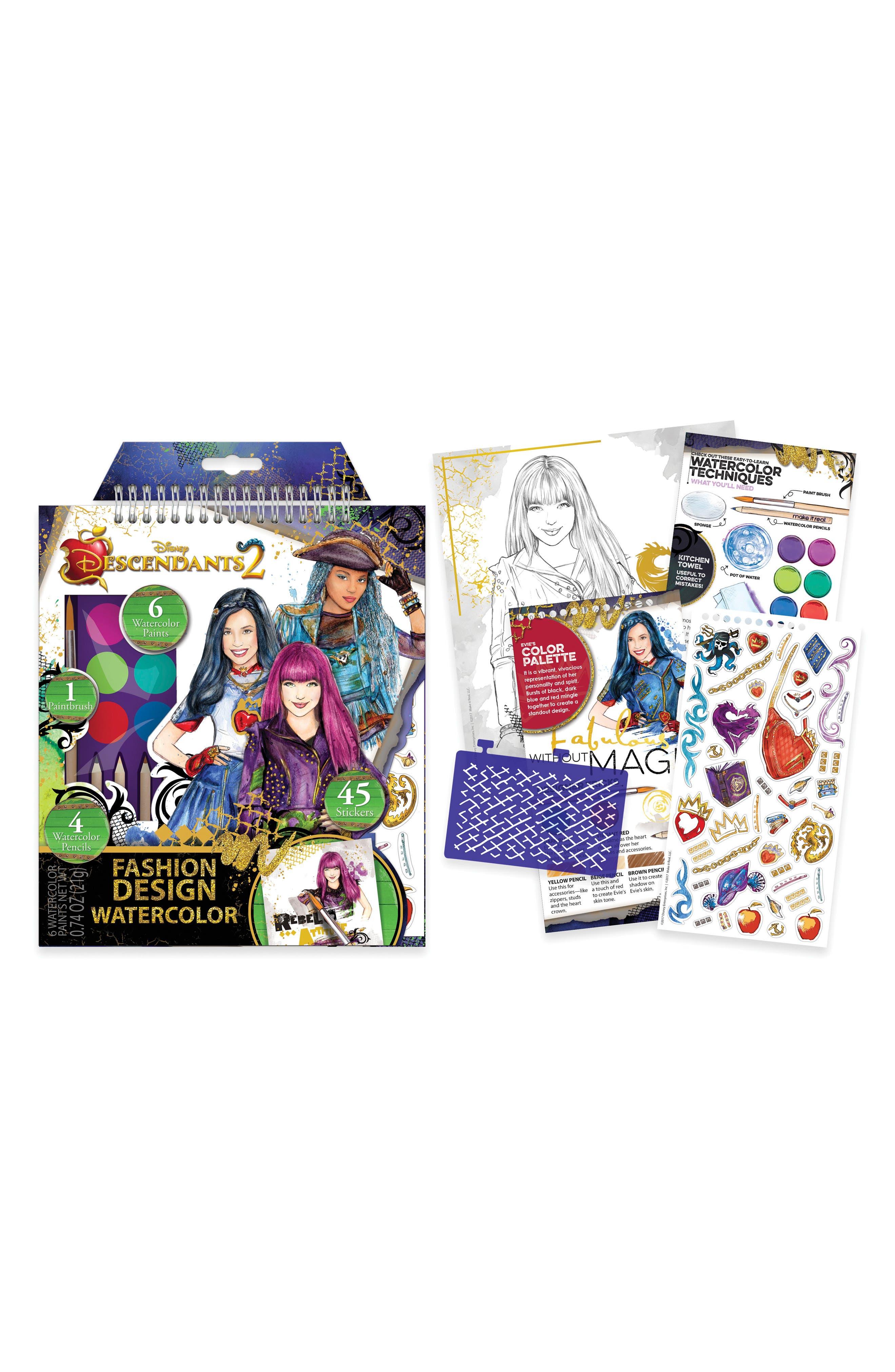 "Disney ""Descendants 2"" Medium Watercolor Kit,                             Main thumbnail 1, color,                             Multi"