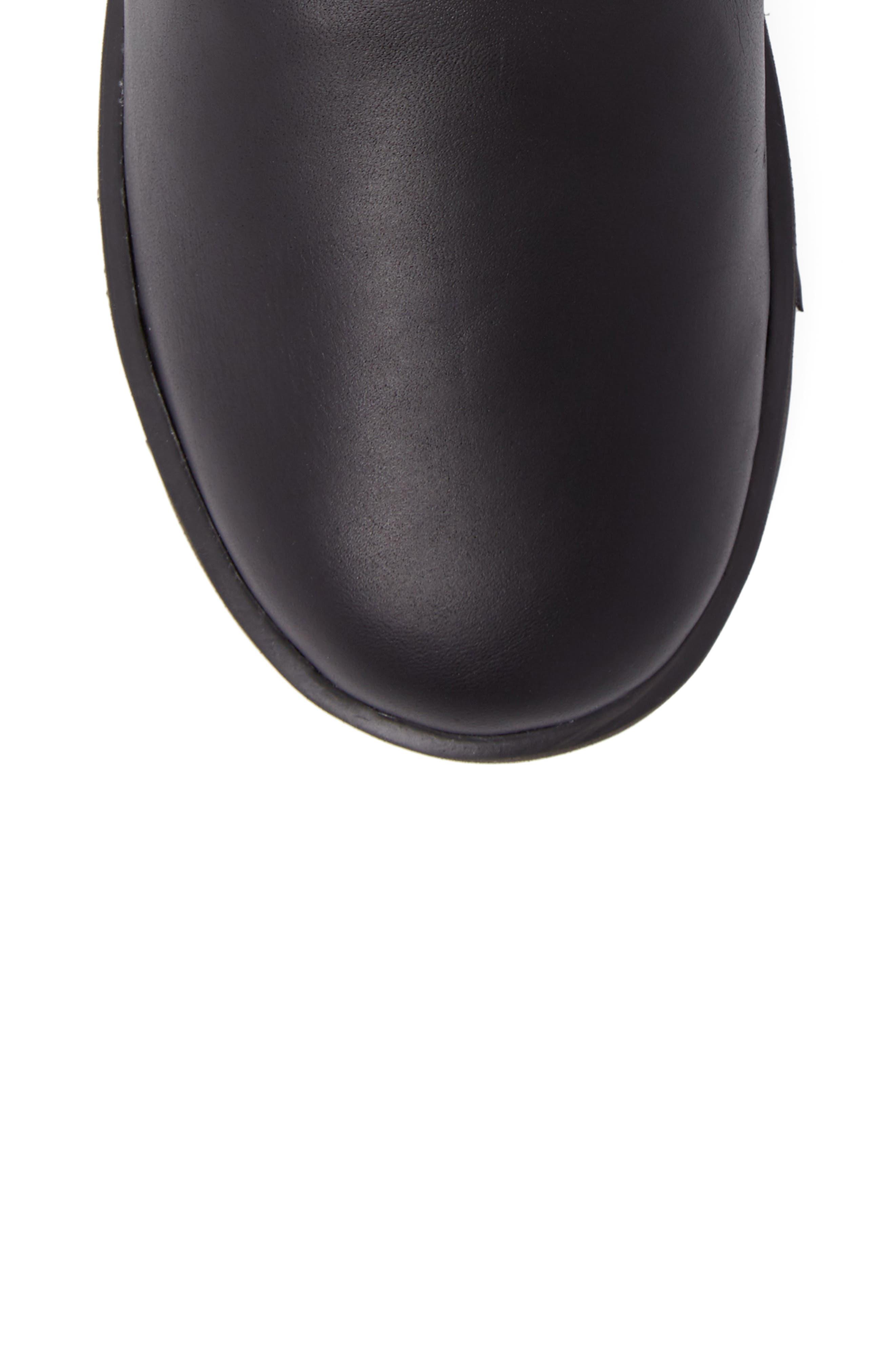 Breida Waterproof Boot,                             Alternate thumbnail 5, color,                             Black Leather