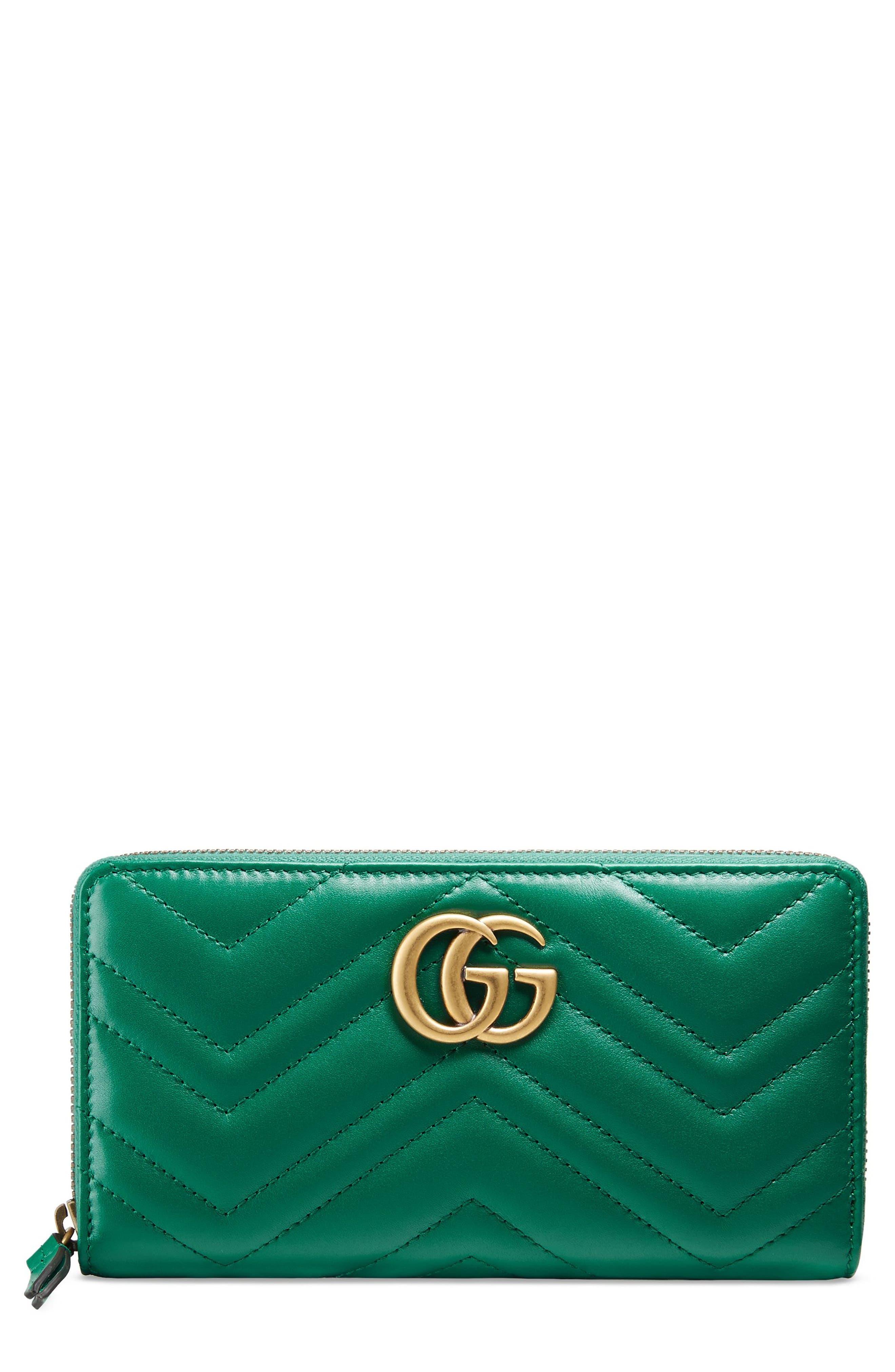 Gucci GG Marmont Matelassé Leather Zip-Around Wallet