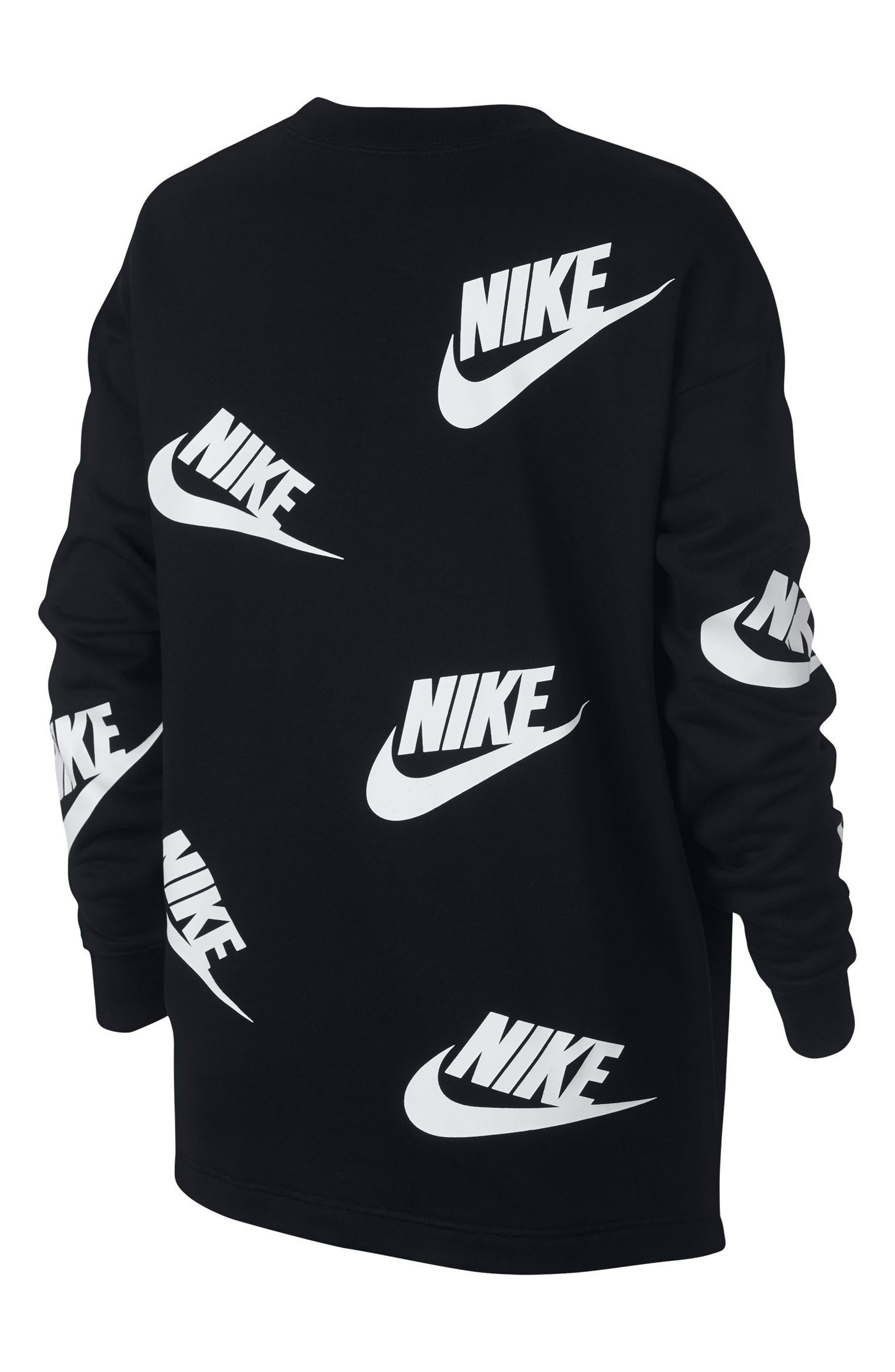 Sportswear Futura Sweatshirt,                             Alternate thumbnail 4, color,                             Black/ White