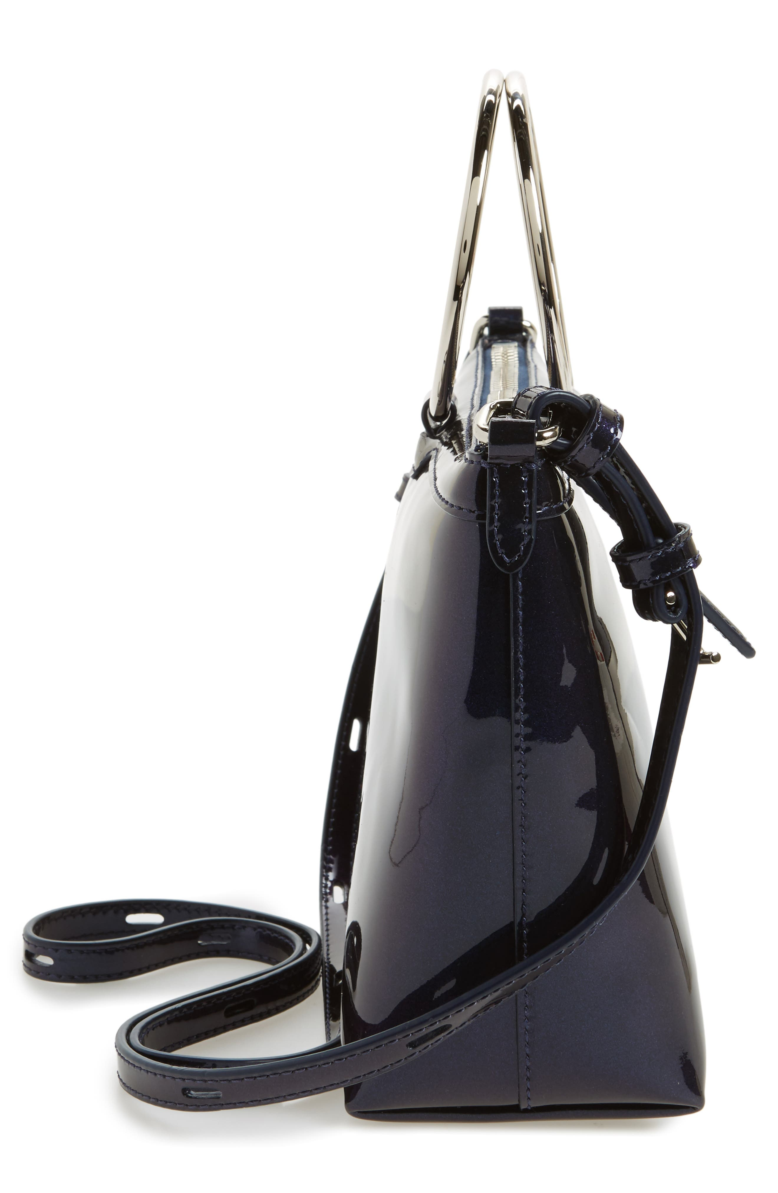 Iridescent Ring Crossbody Bag,                             Alternate thumbnail 5, color,                             Galaxy Navy