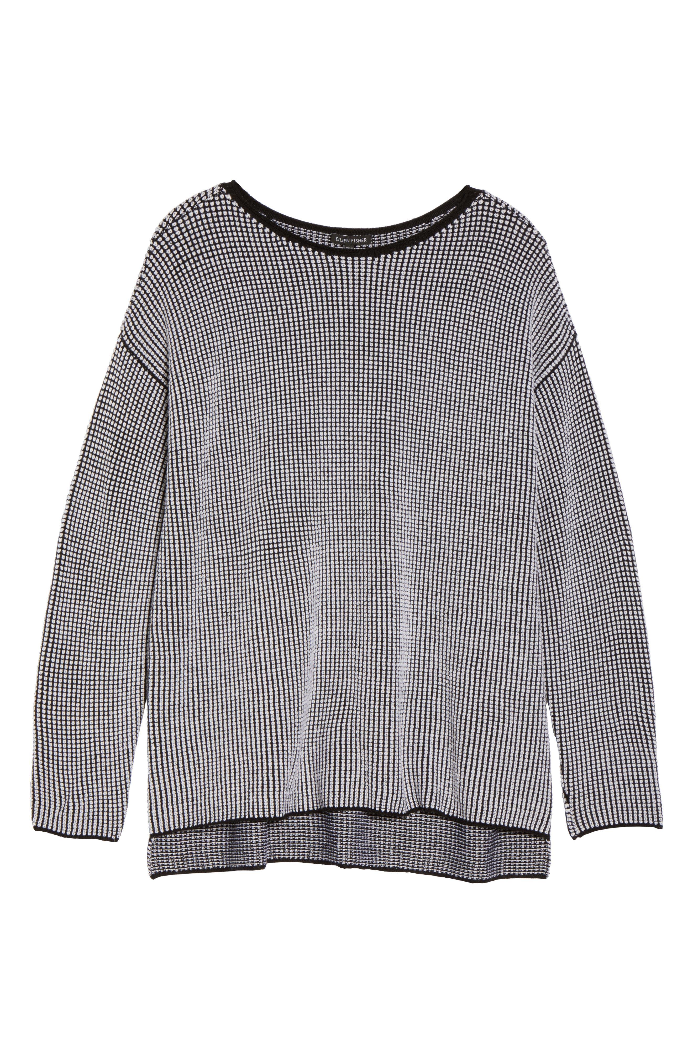 Alternate Image 6  - Eileen Fisher Textured Merino Wool Sweater (Plus Size)