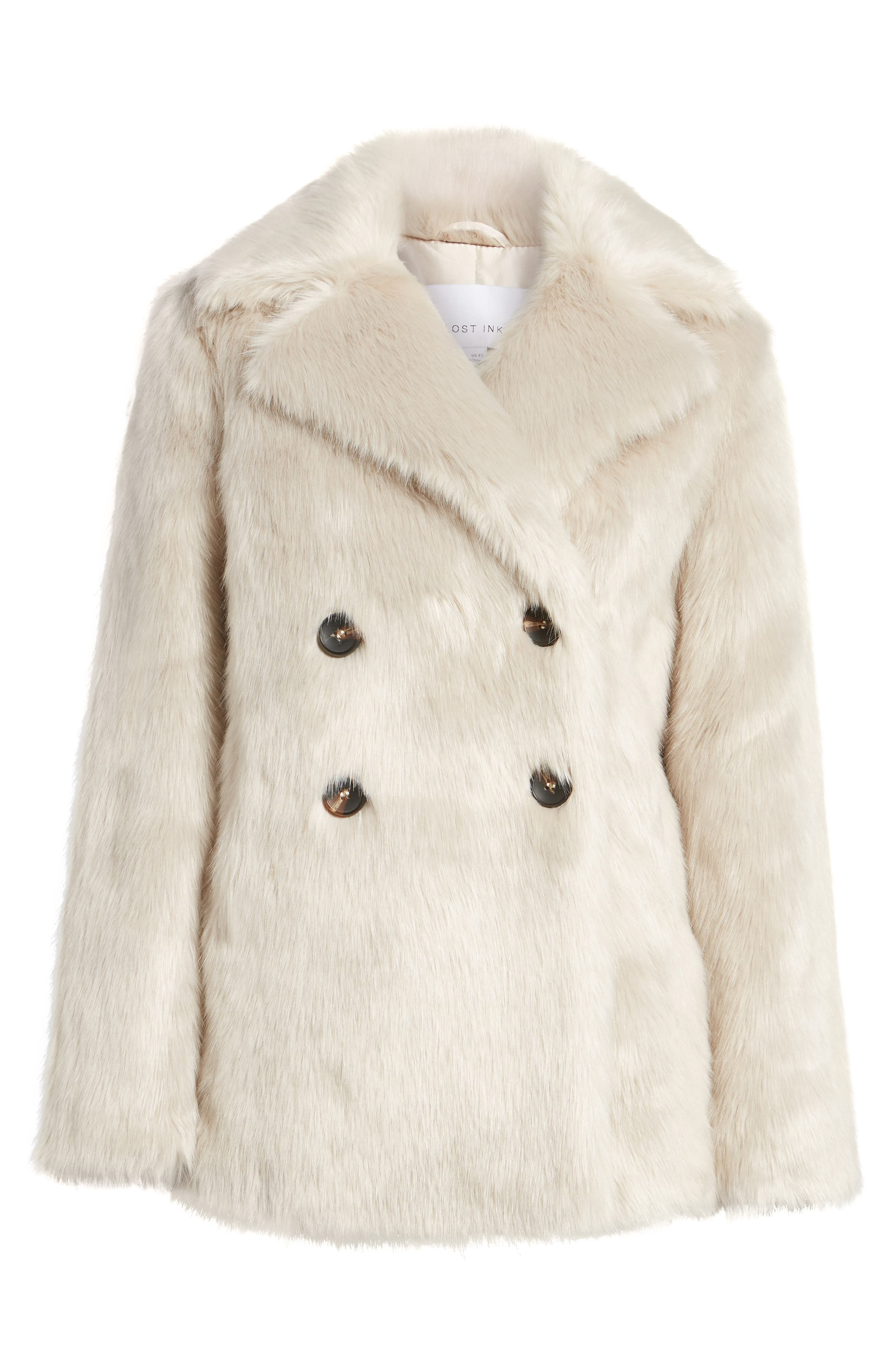 Alternate Image 7  - LOST INK Faux Fur Coat