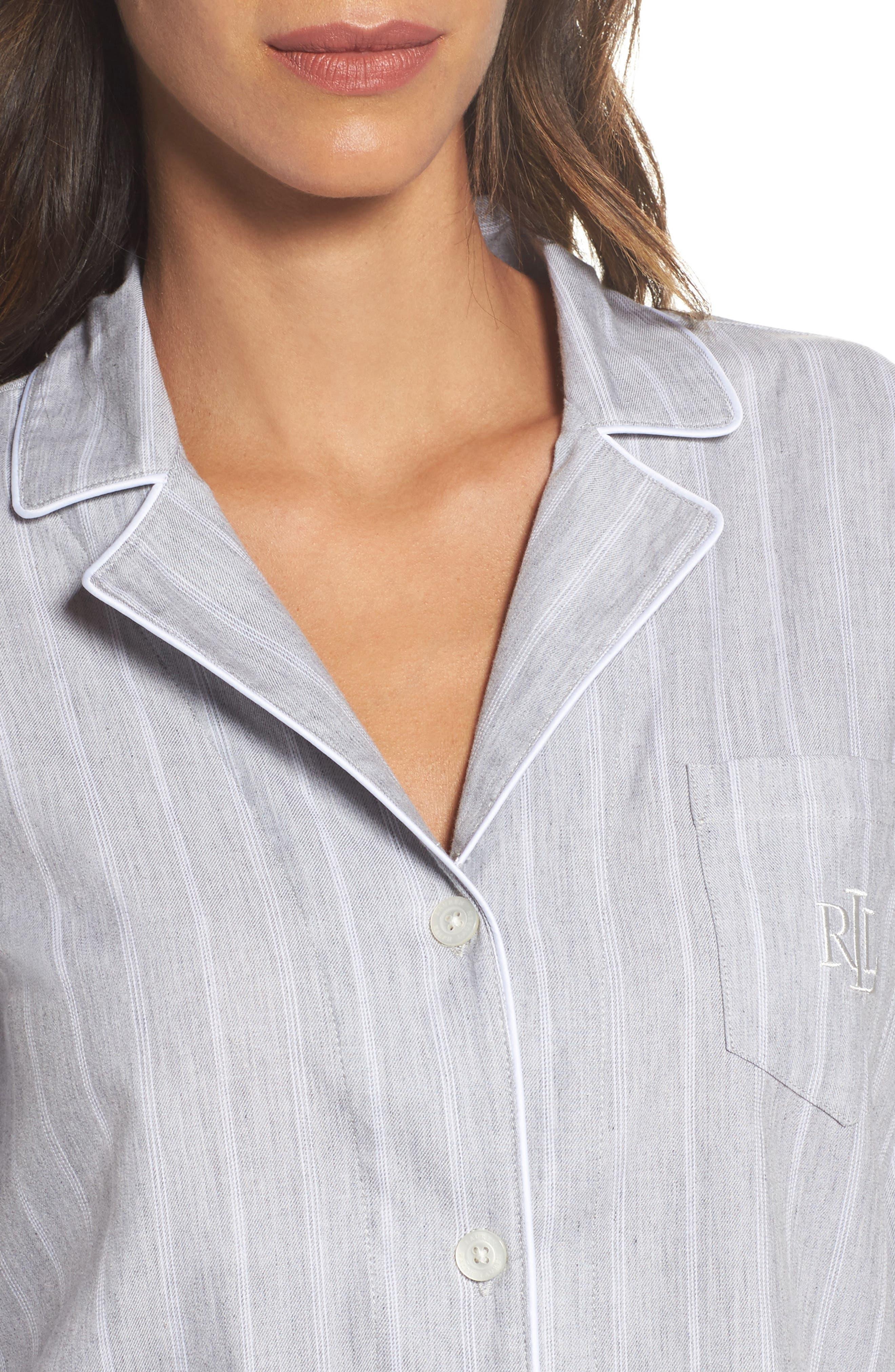 Alternate Image 4  - Lauren Ralph Lauren Cotton Pajamas