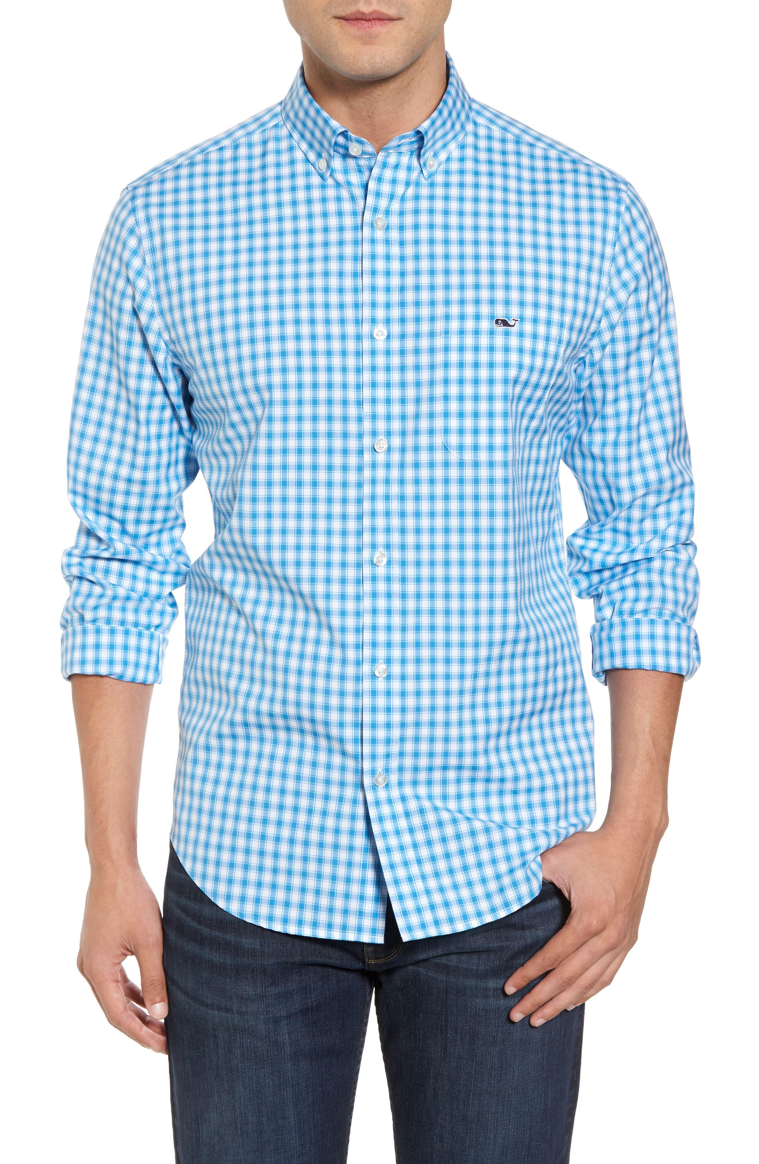 Main Image - vineyard vines Tucker Classic Fit Check Sport Shirt